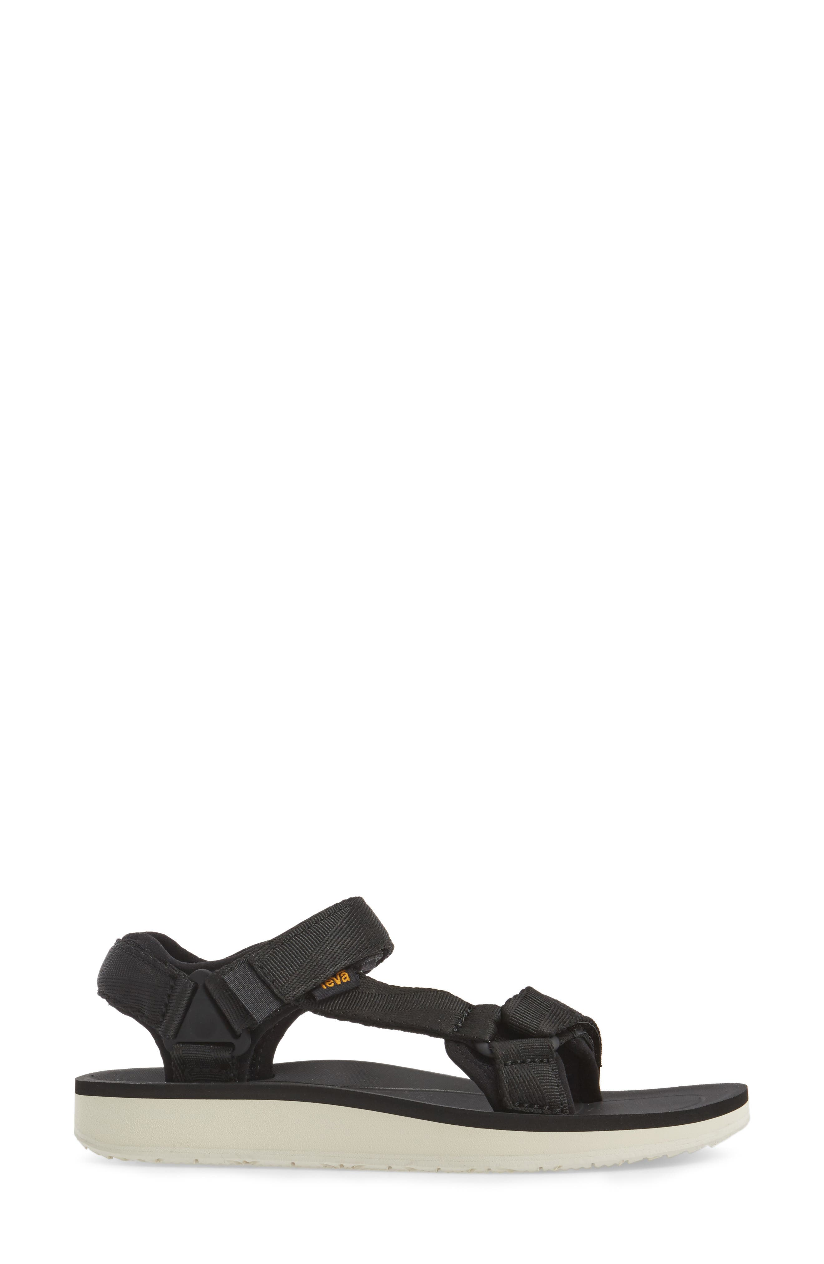 Original Universal Premier Sandal,                             Alternate thumbnail 3, color,                             BLACK FABRIC