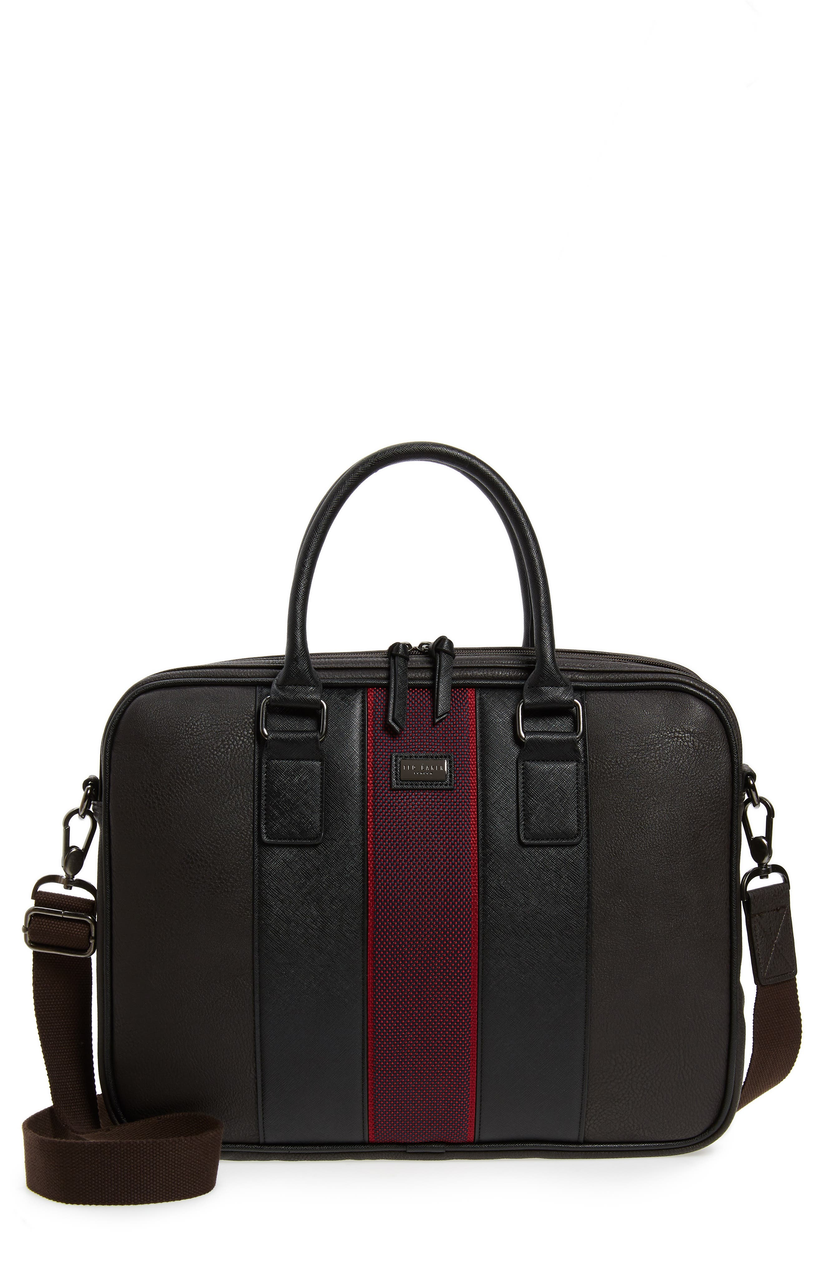 TED BAKER LONDON,                             Merman Faux Leather Briefcase,                             Main thumbnail 1, color,                             211
