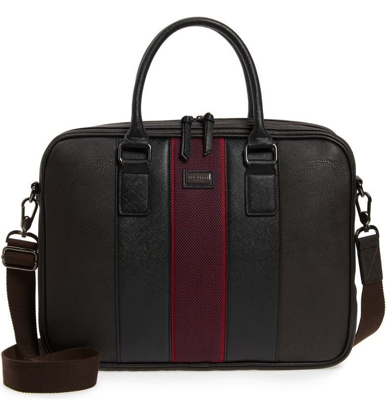 6cbce95bfb3c0 Ted Baker Merman Faux Leather Briefcase - Brown In Chocolate ...