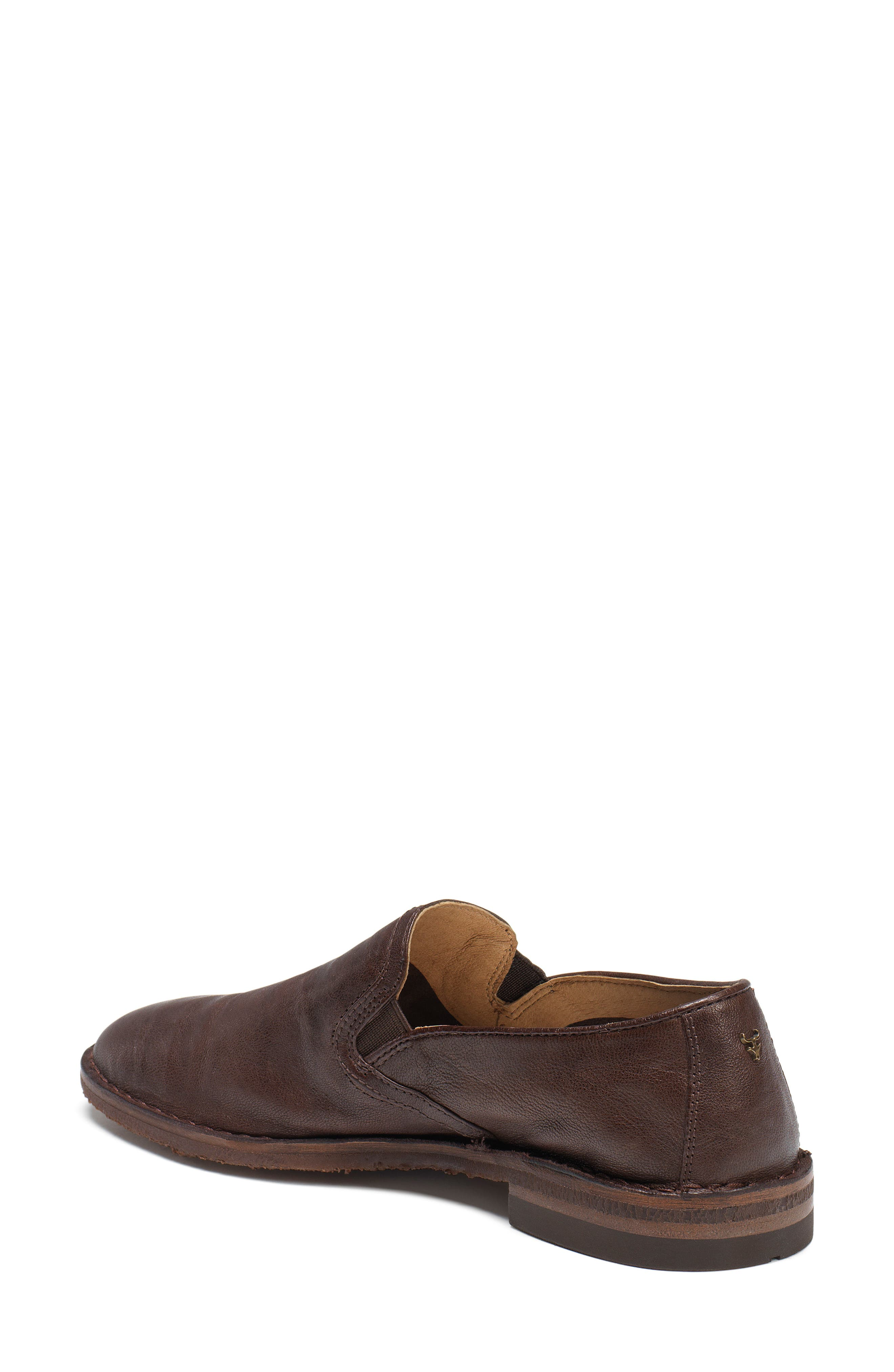 'Ali' Flat,                             Alternate thumbnail 2, color,                             BROWN LEATHER