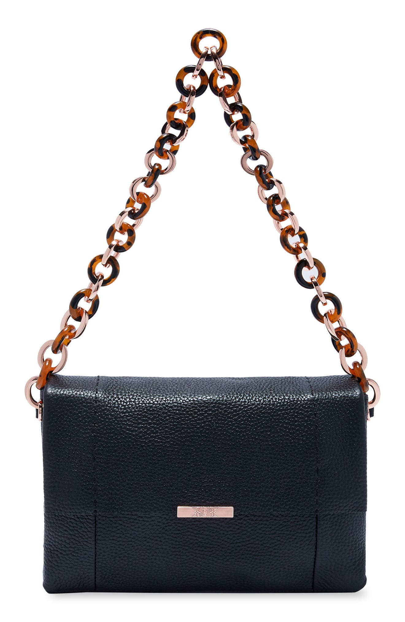 Ipomoea Leather Shoulder Bag,                         Main,                         color, 001