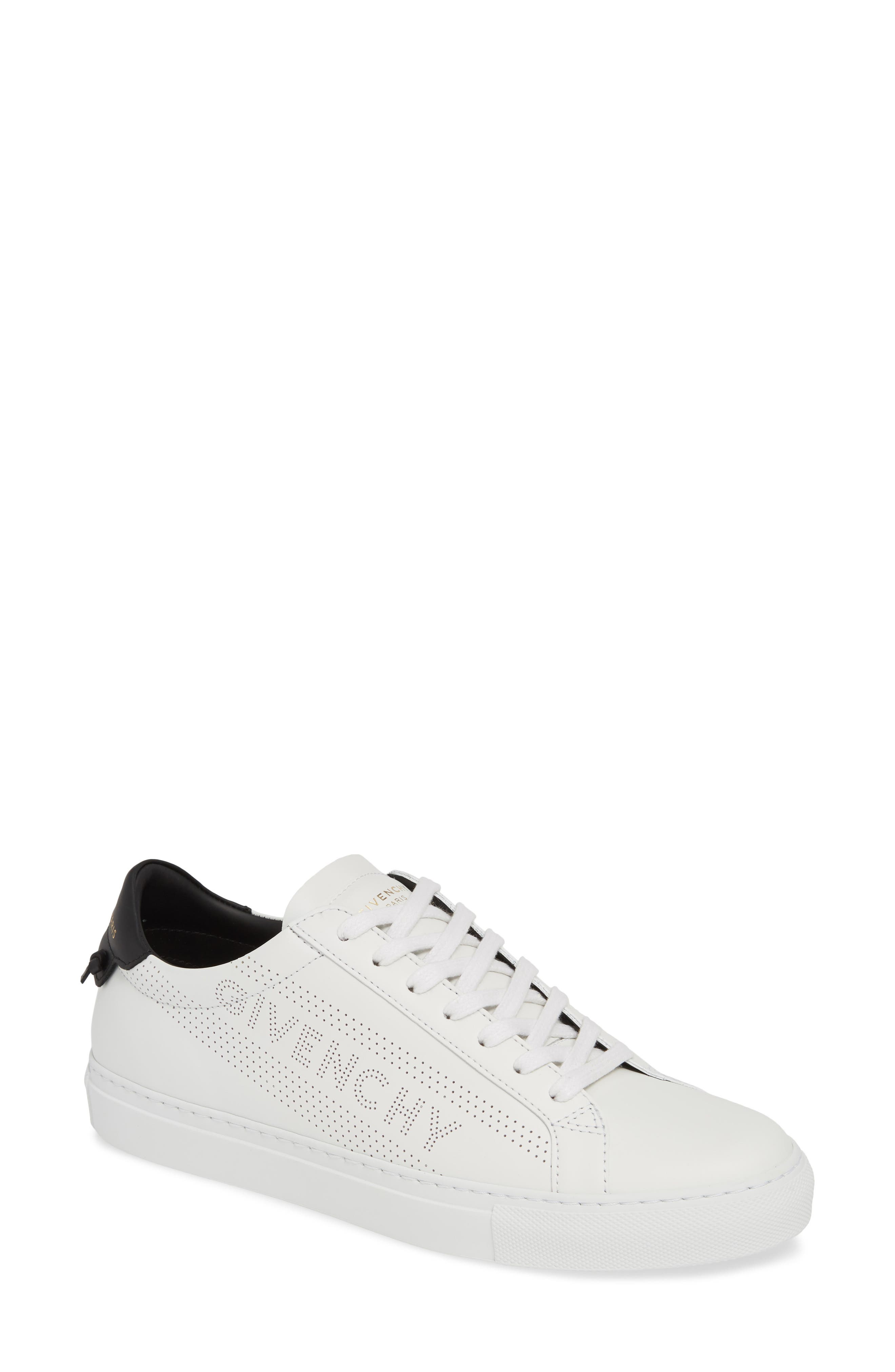 Urban Street Perforated Sneaker,                             Main thumbnail 1, color,                             WHITE/ BLACK