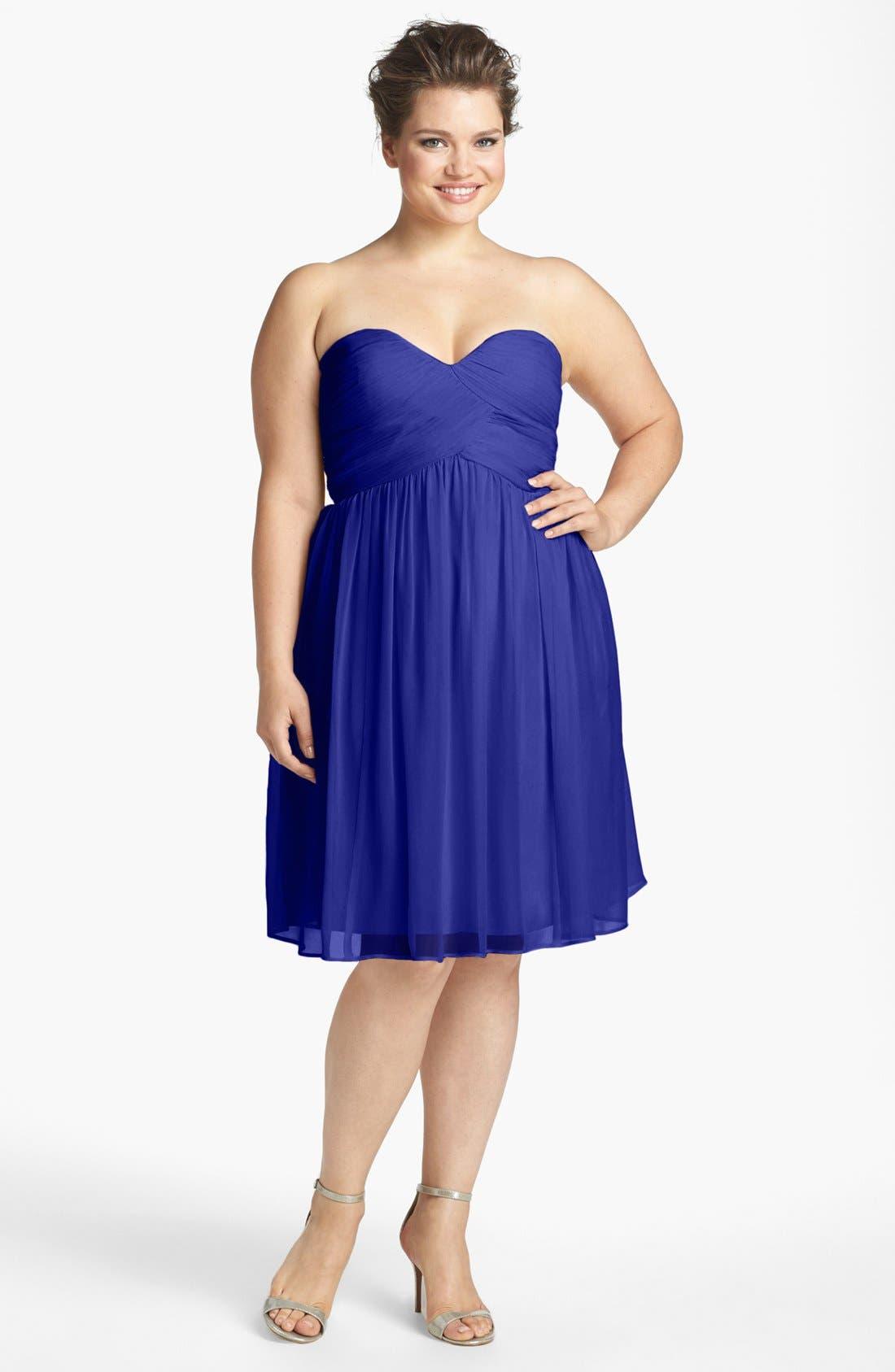 'Morgan' Strapless Silk Chiffon Dress,                             Alternate thumbnail 53, color,