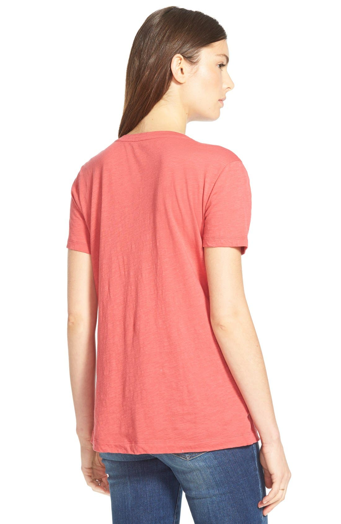 Whisper Cotton V-Neck Pocket Tee,                             Alternate thumbnail 116, color,