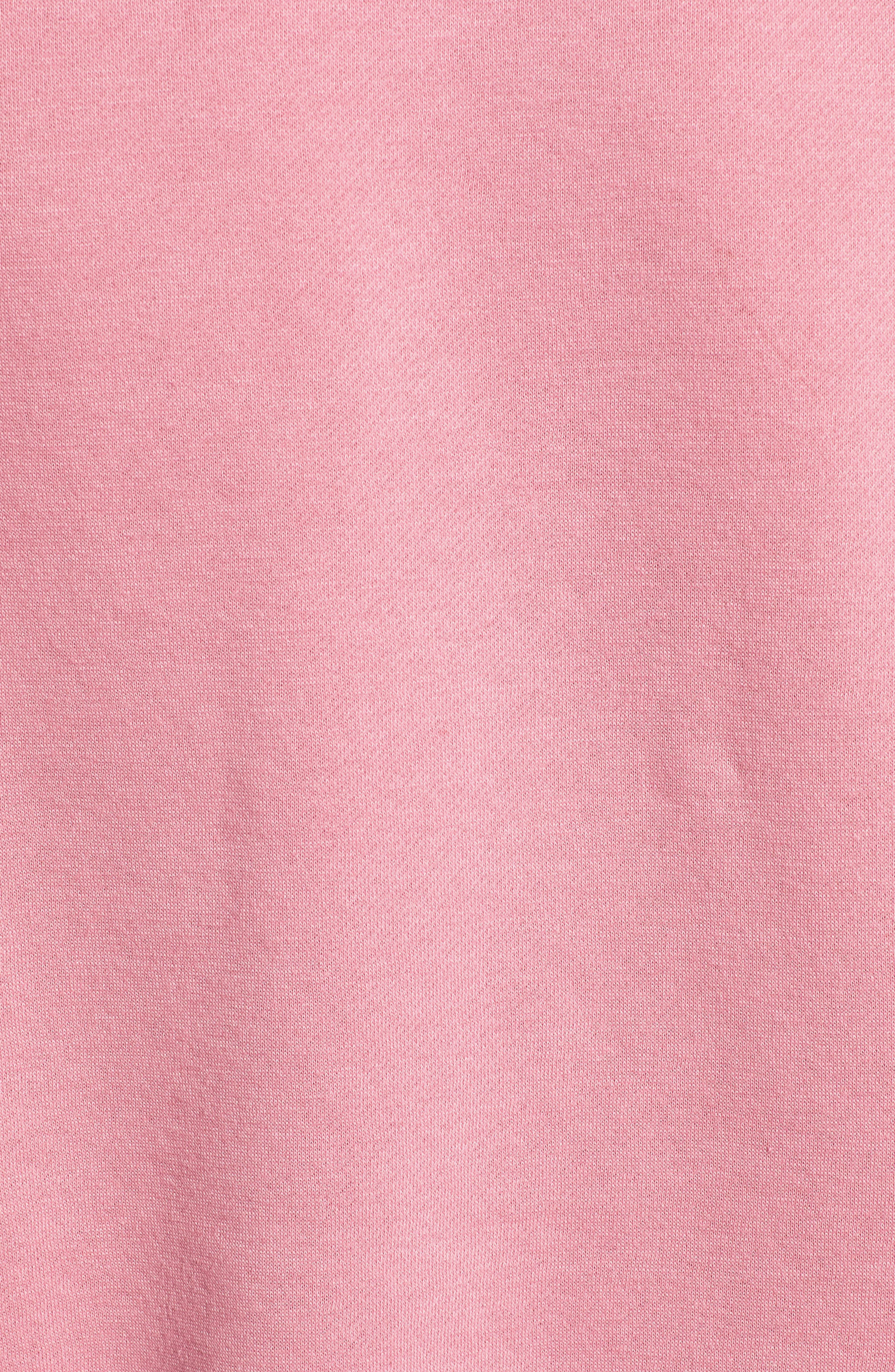 No Regrets Sweatshirt,                             Alternate thumbnail 5, color,                             CLAY ROSE/ WHITE