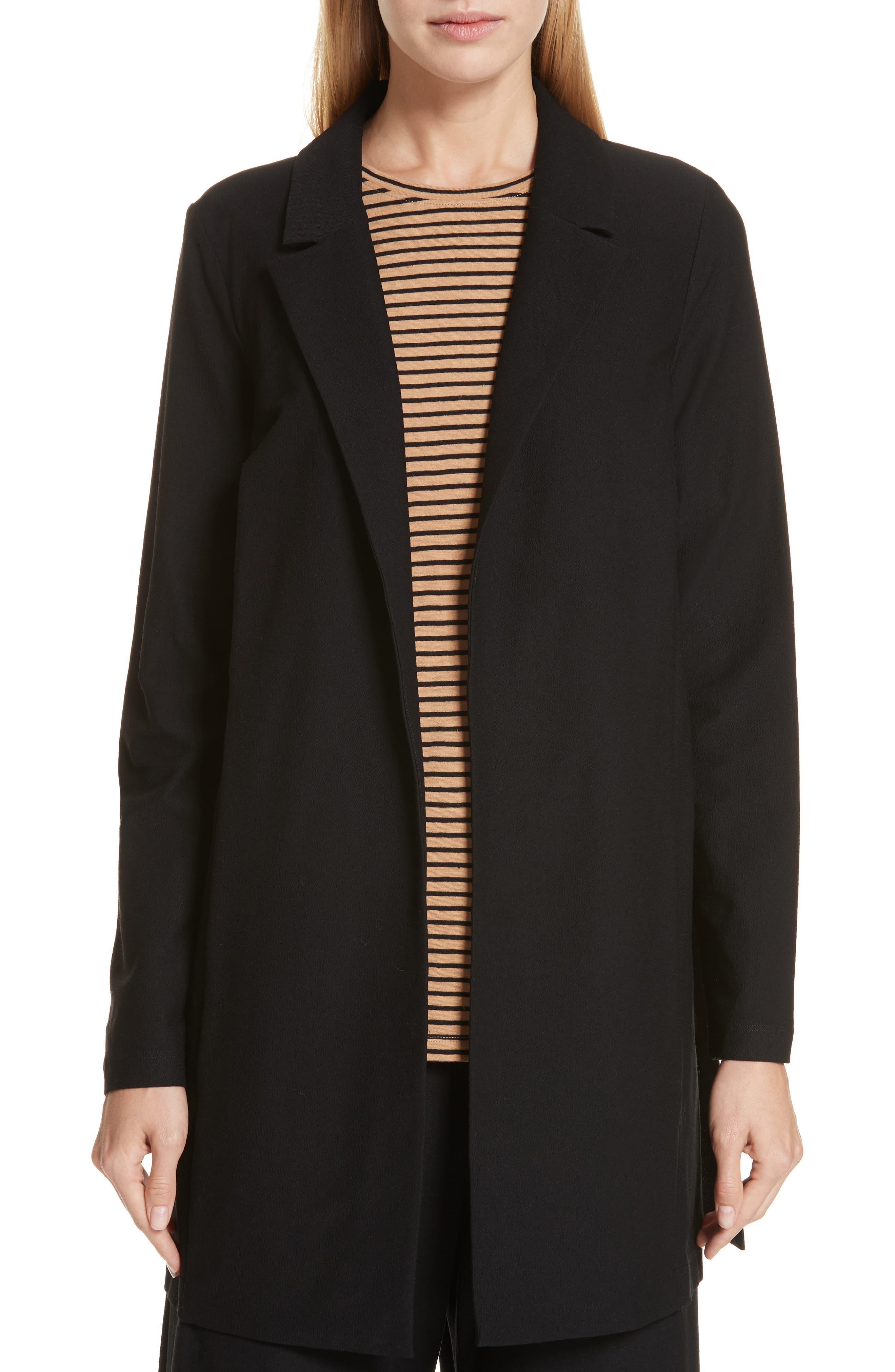 Classic Collar Jacket, Main, color, BLACK