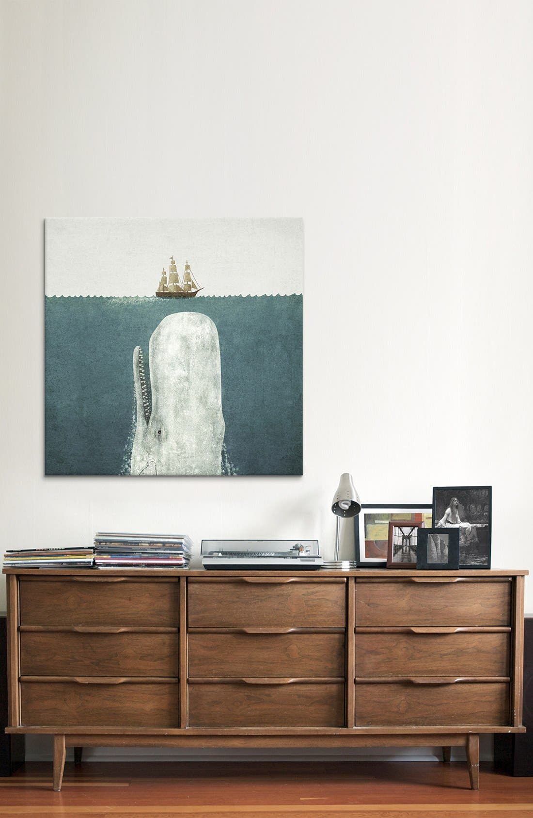 'White Whale Square - Terry Fan' Giclée Print Canvas Art,                             Alternate thumbnail 2, color,                             GREY