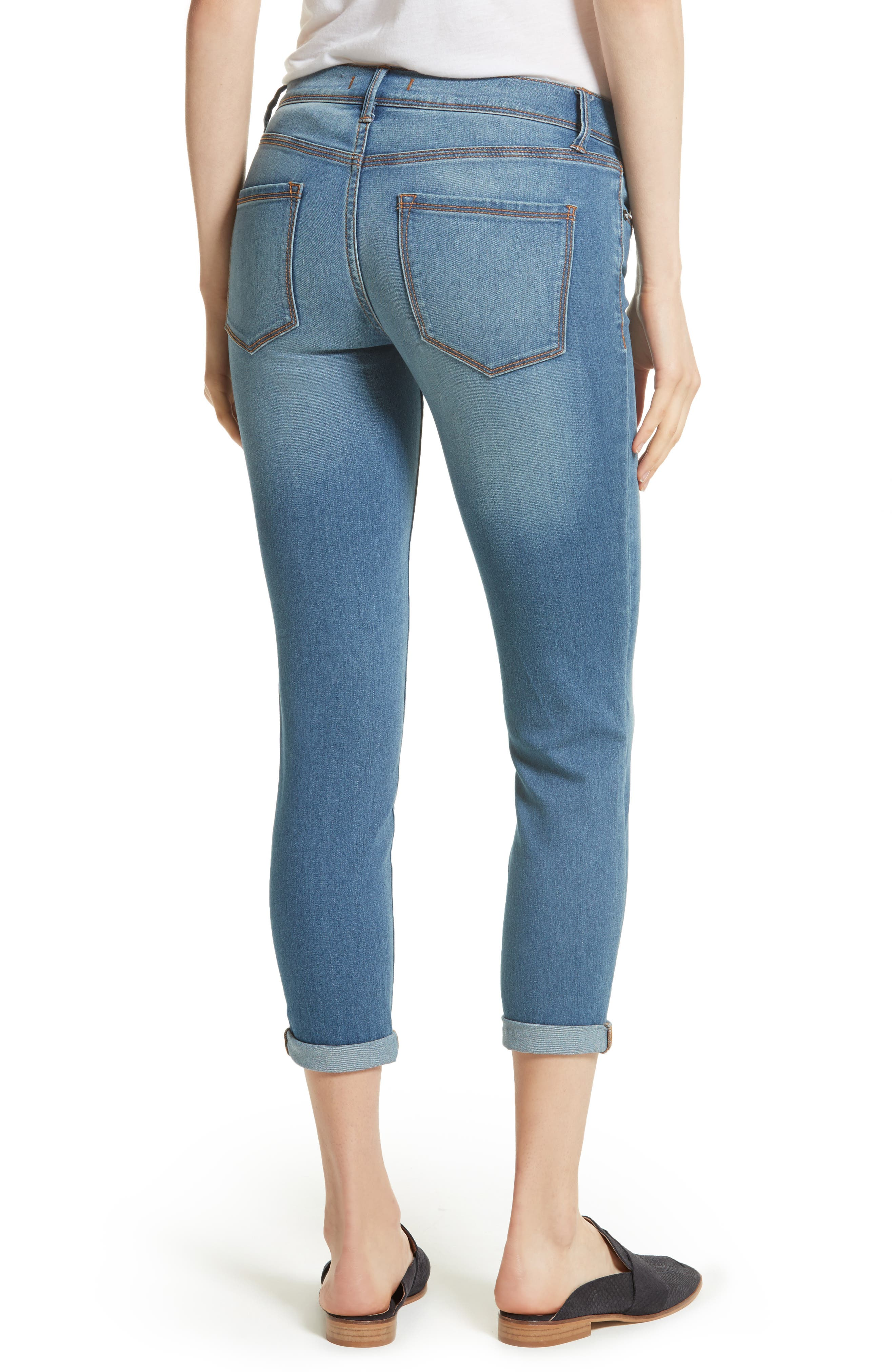 Gummy High Waist Jeans,                             Alternate thumbnail 3, color,