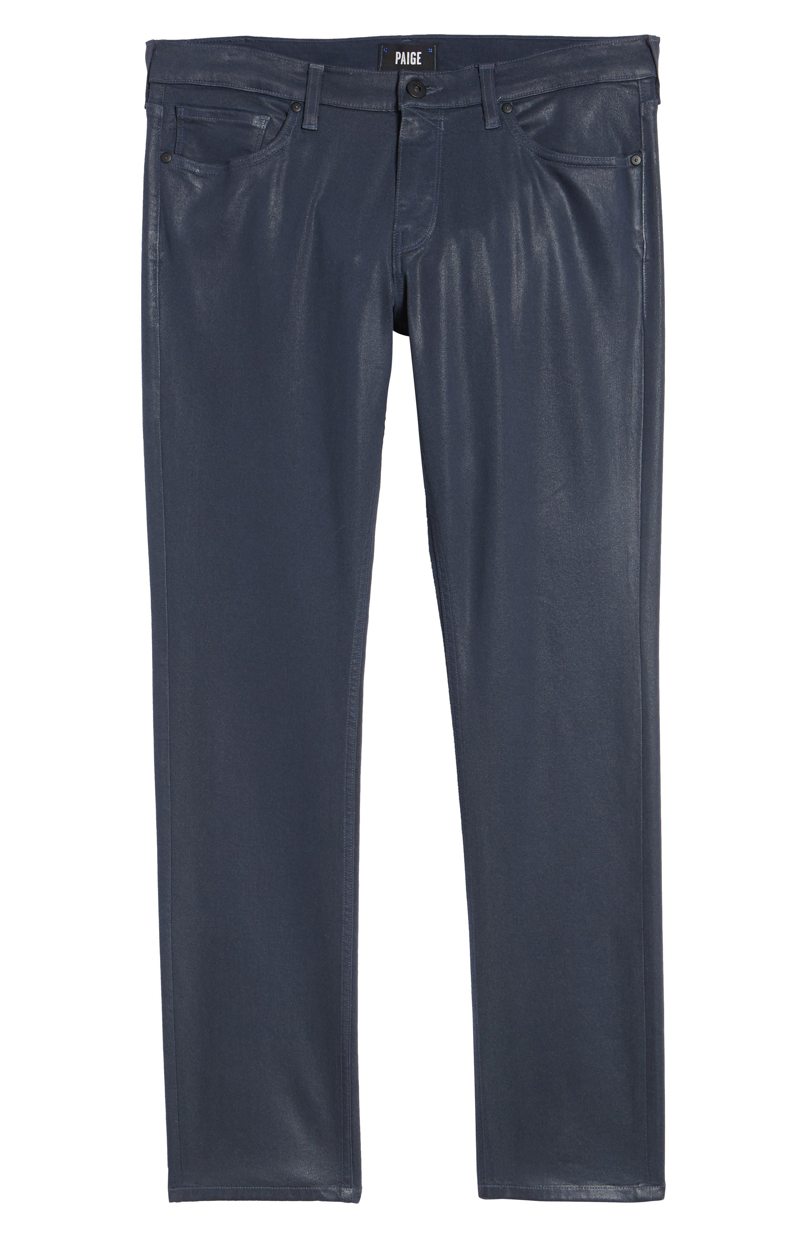 Transcend - Lennox Slim Fit Jeans,                             Alternate thumbnail 6, color,                             NIGHTFALL COATED