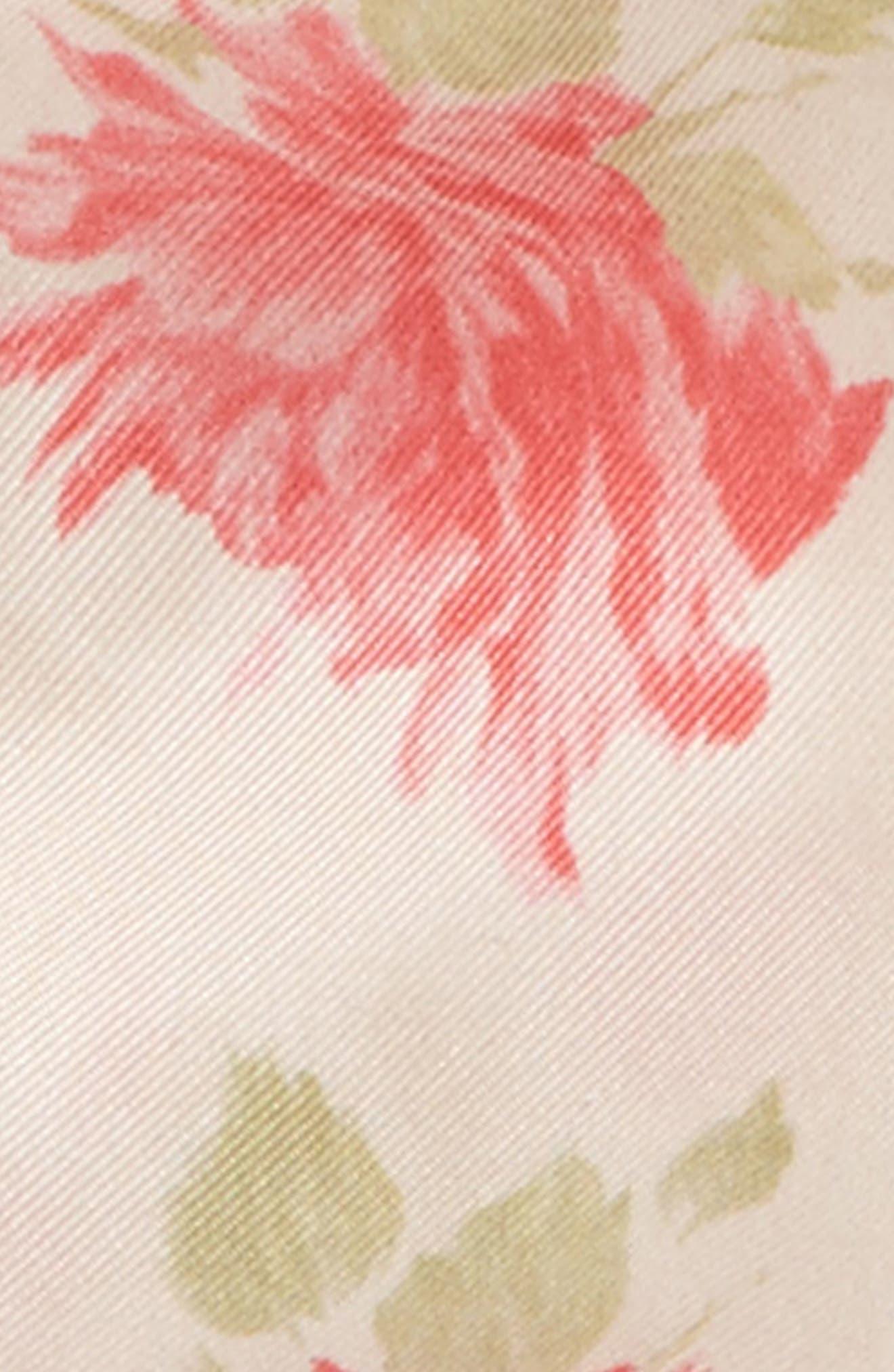 GARAVANI Rose Re-Edition Skinny Silk Scarf,                             Alternate thumbnail 3, color,