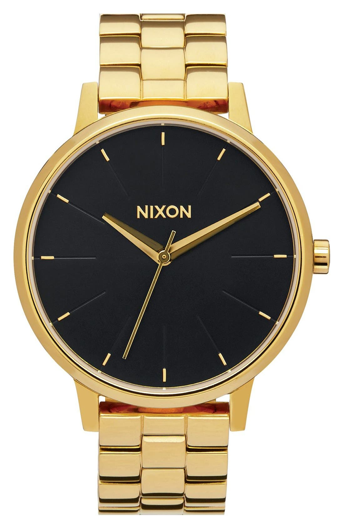 'The Kensington' Round Bracelet Watch, 37mm,                         Main,                         color, GOLD/ BLACK