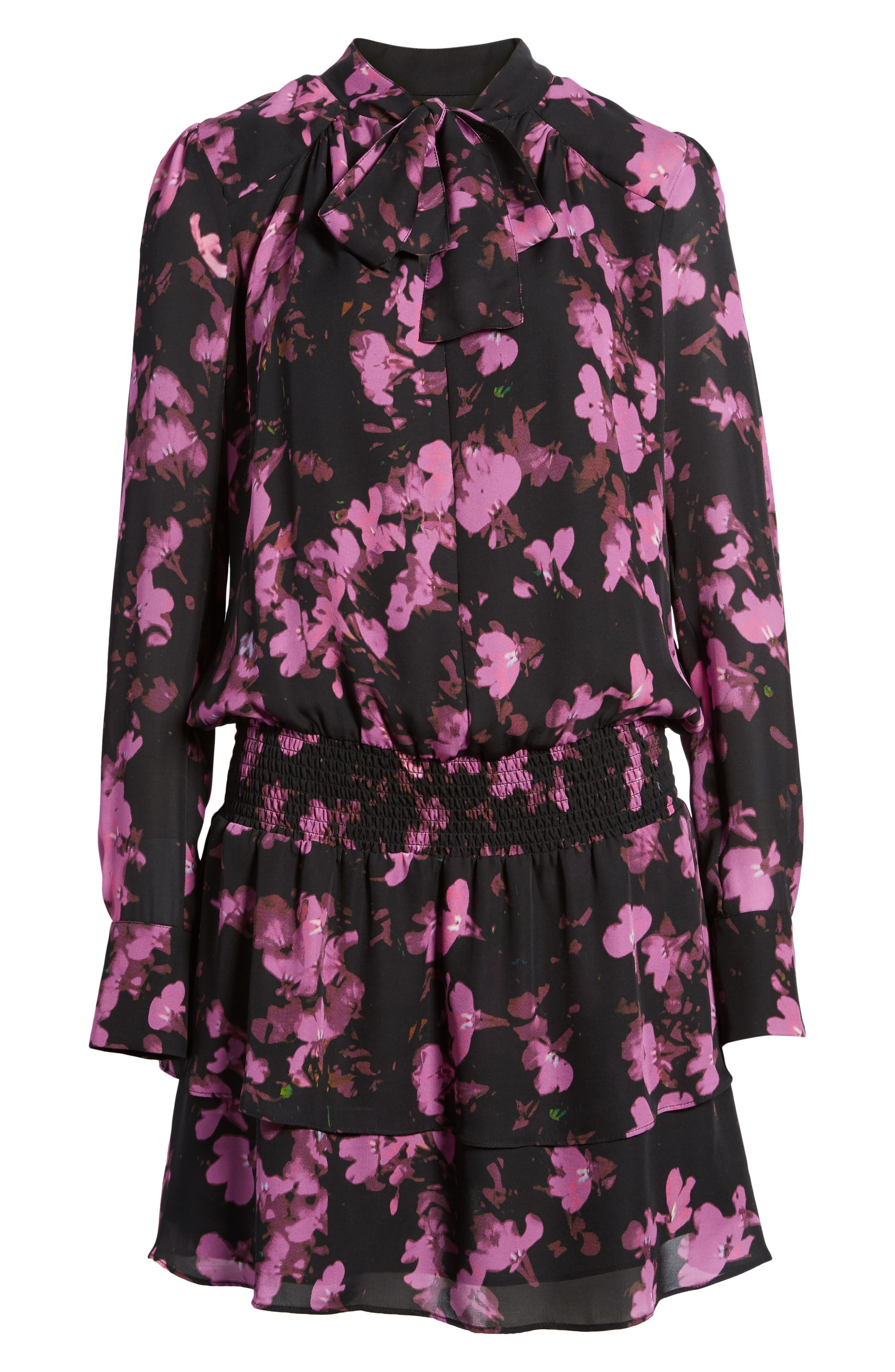 Marybeth Silk Shirtdress,                             Alternate thumbnail 6, color,