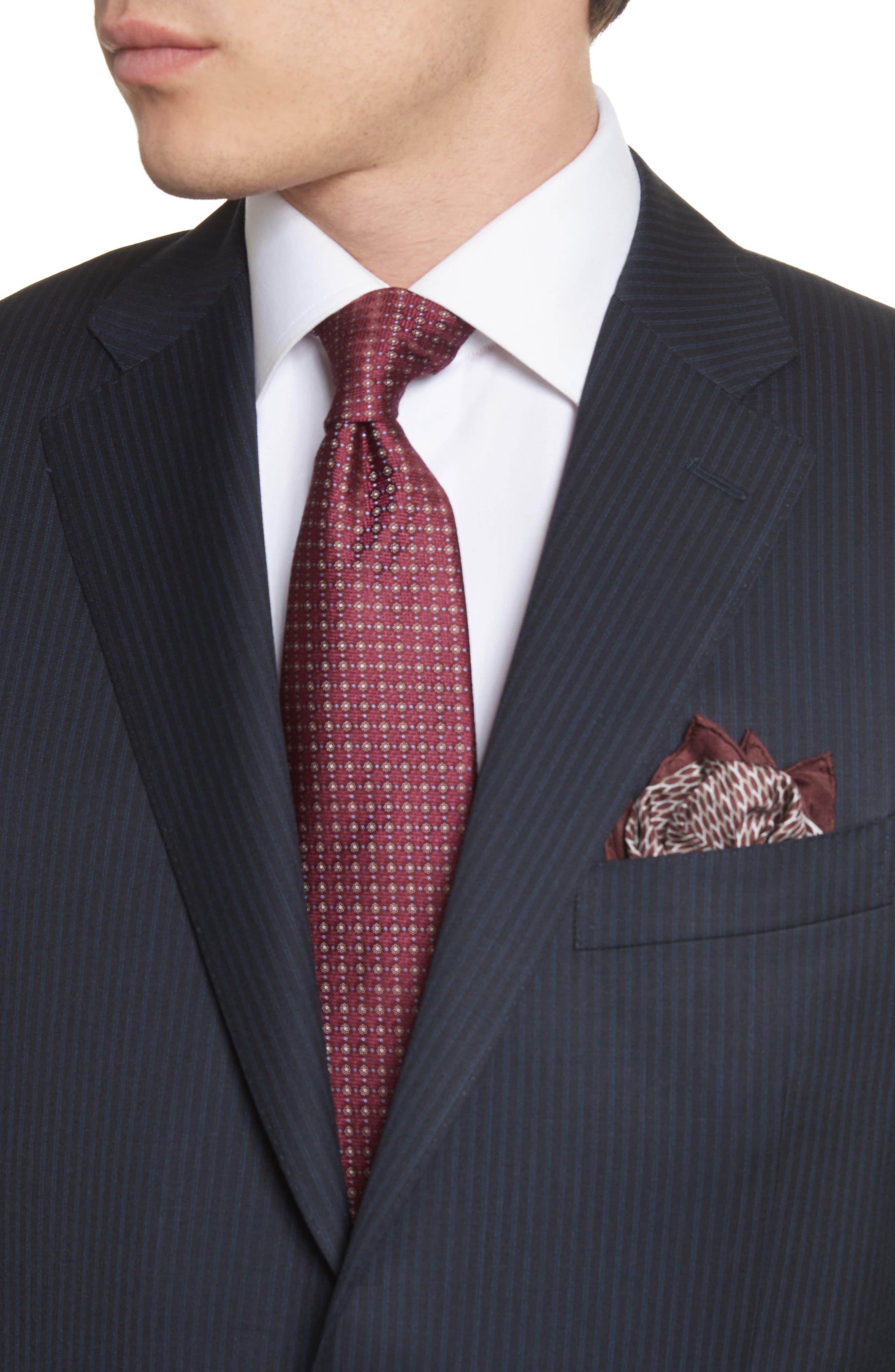 Classic Fit Stripe Wool Suit,                             Alternate thumbnail 4, color,                             410