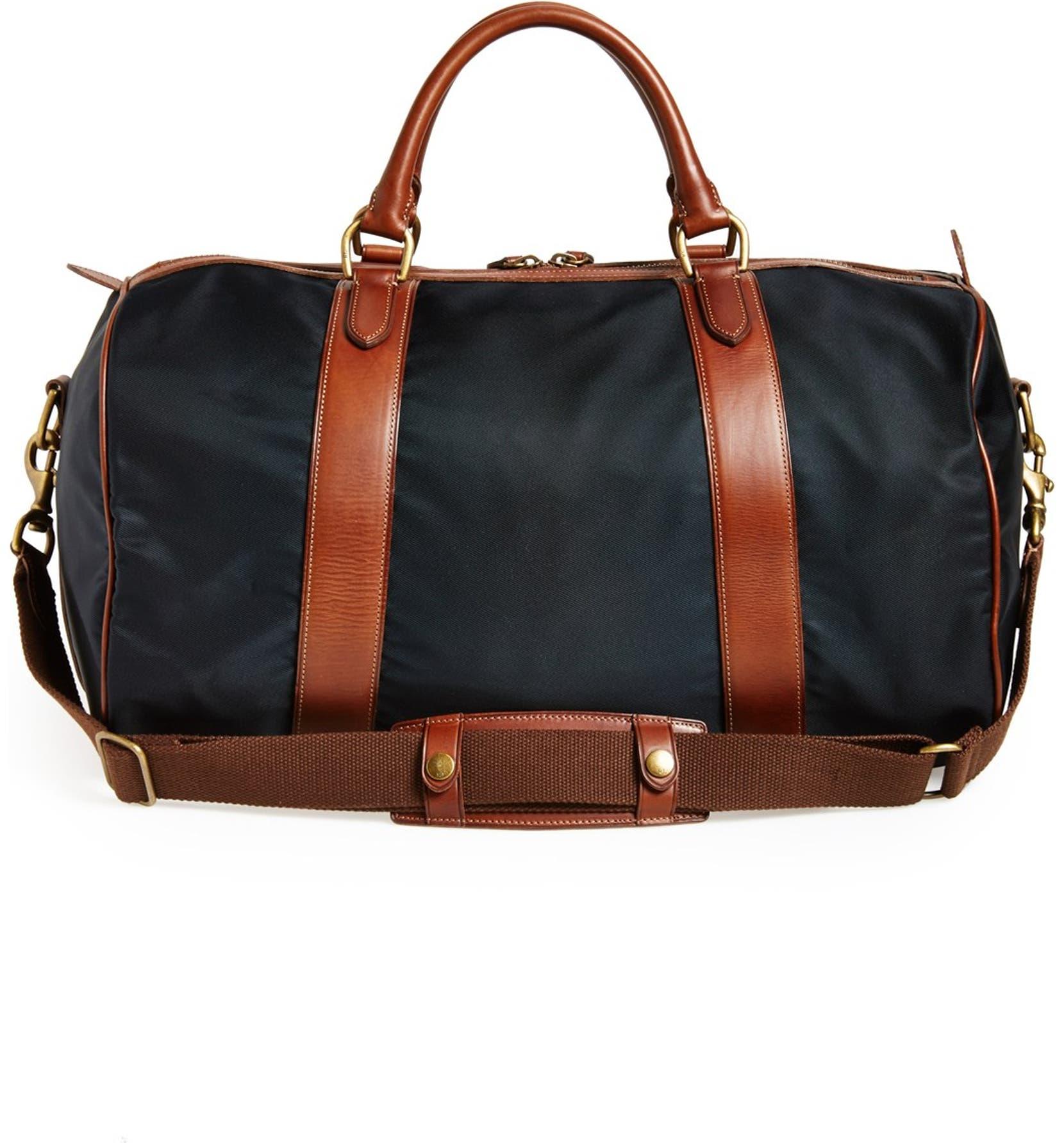 7d0fc6a08f Polo Ralph Lauren Nylon   Leather Duffel Bag
