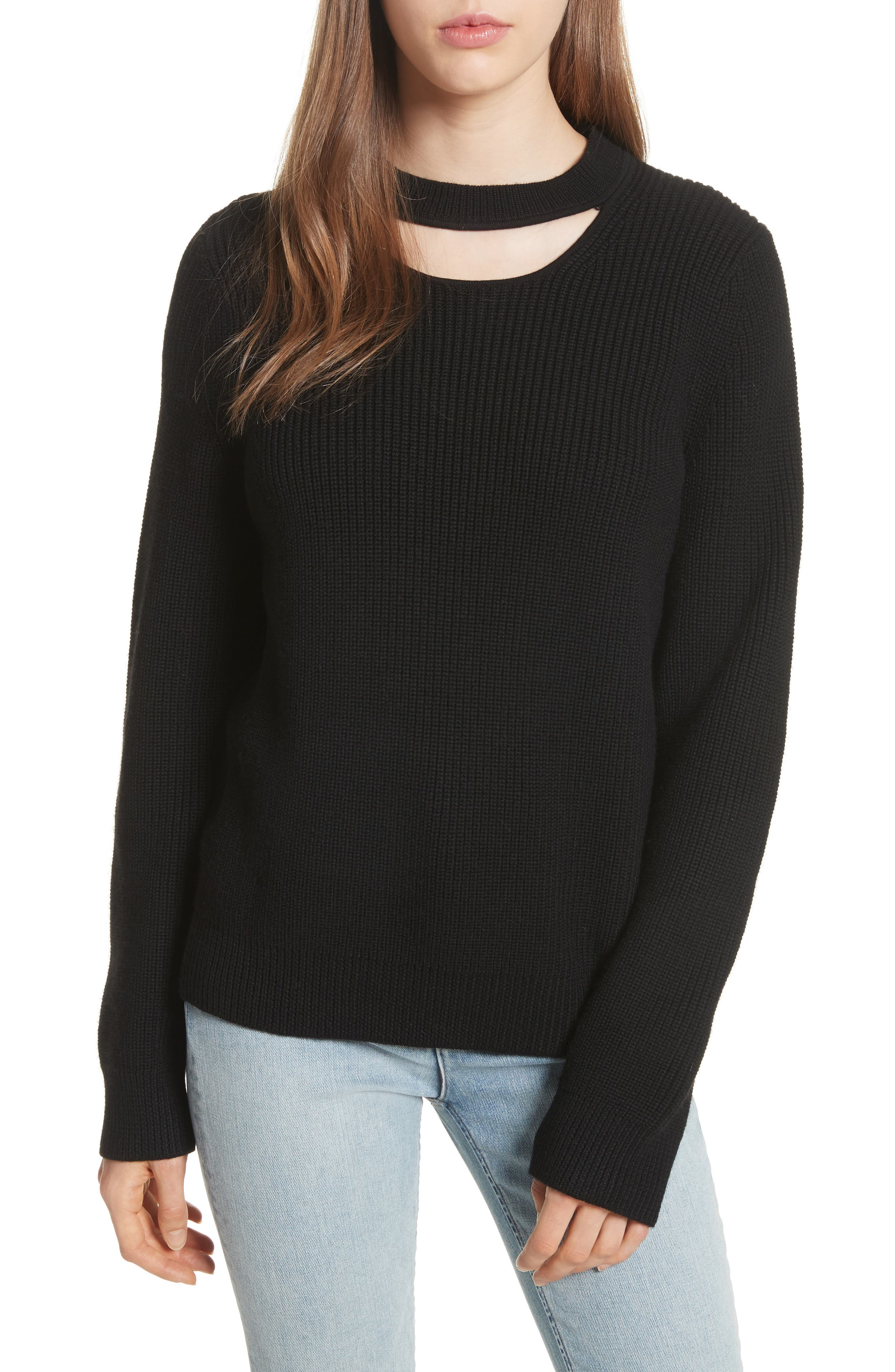 Tori Cutout Sweatshirt,                         Main,                         color, 001