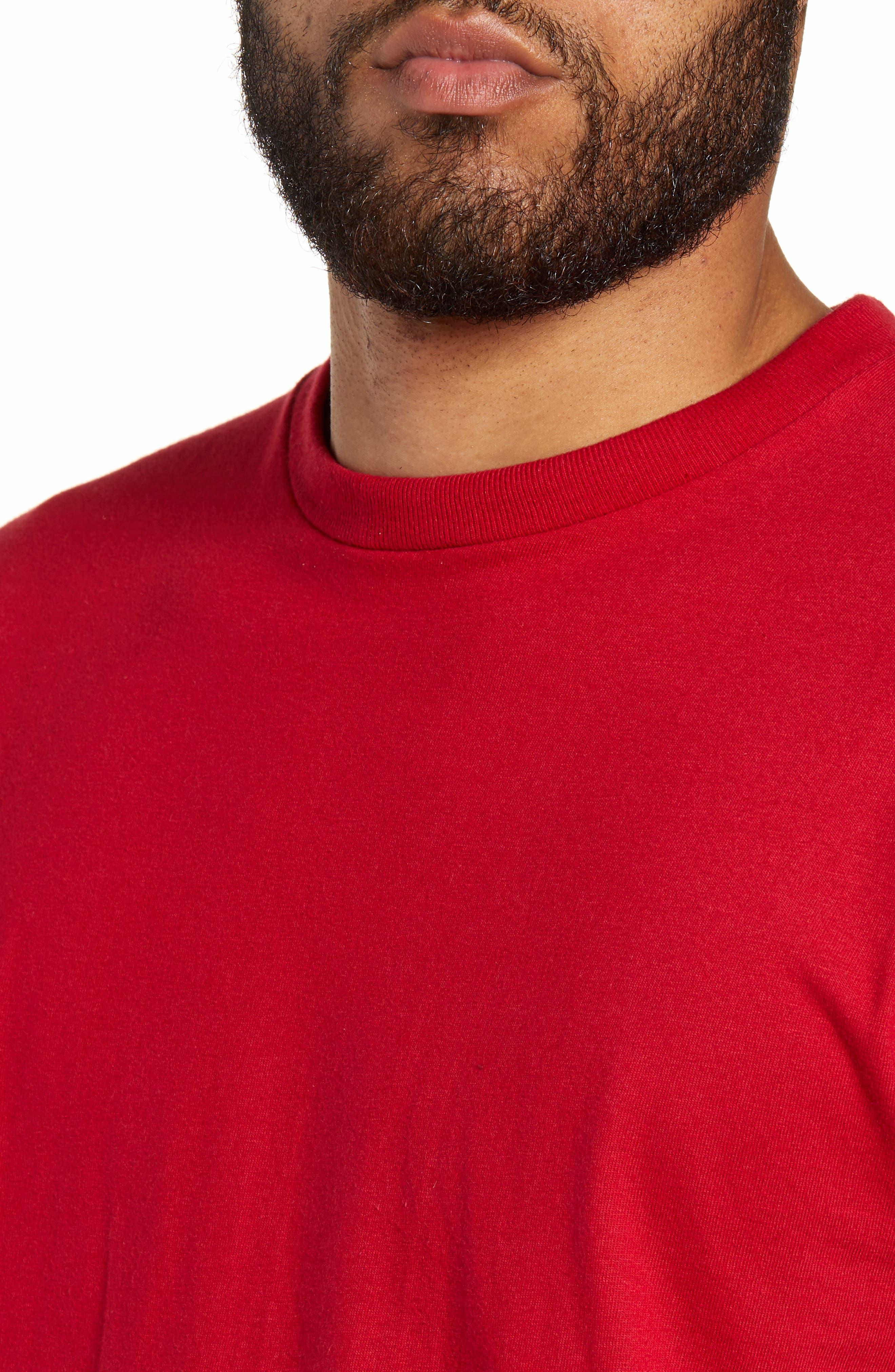 Distorted Short Sleeve T-Shirt,                             Alternate thumbnail 4, color,                             CARDINAL