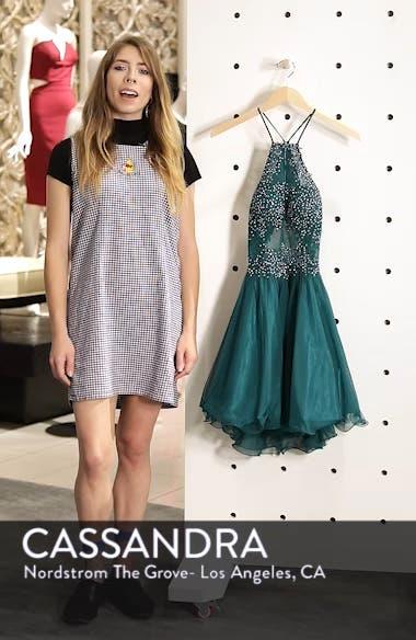 Halter Neck Appliqué Mesh Party Dress, sales video thumbnail