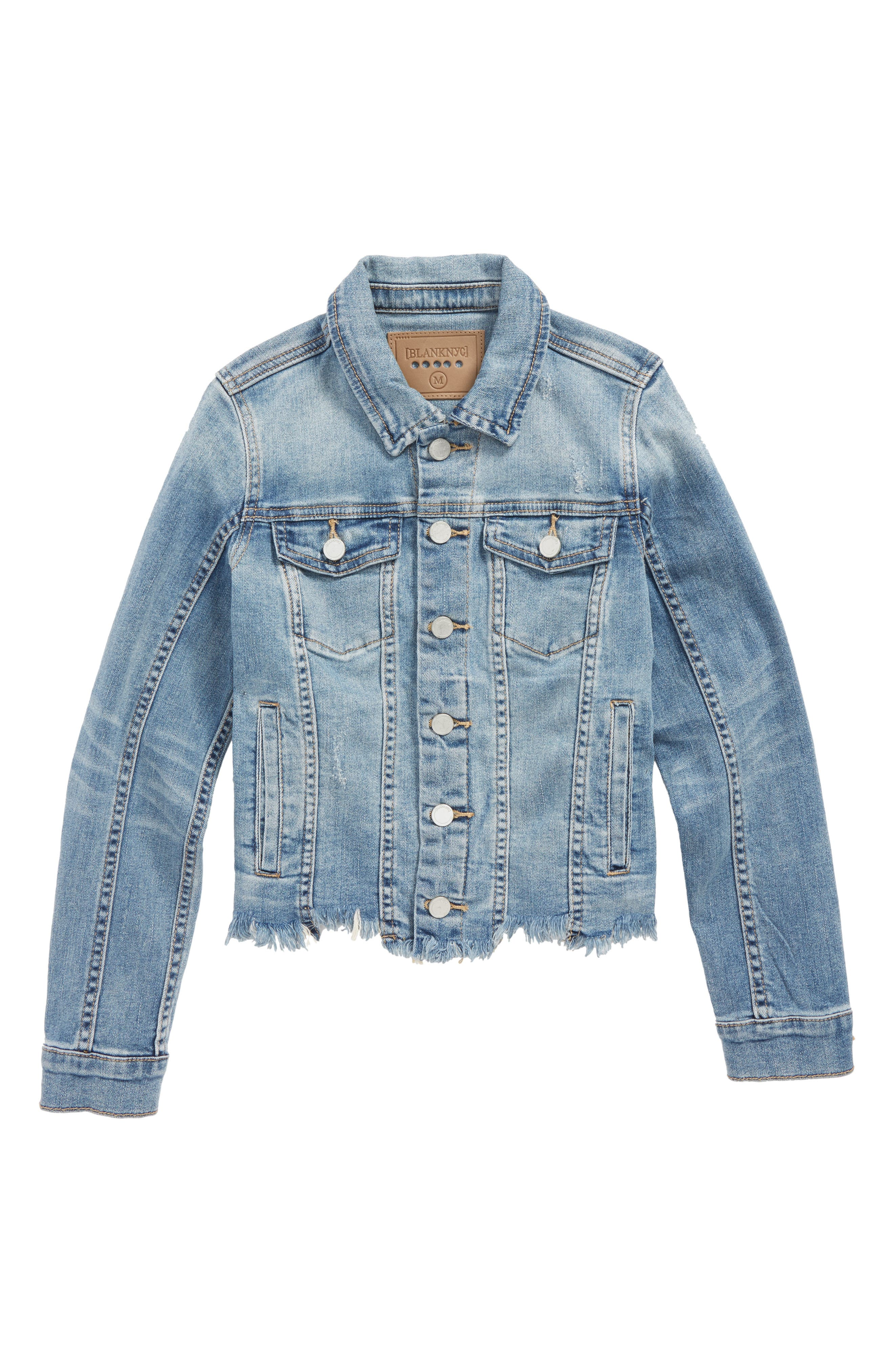 Distressed Denim Jacket,                             Main thumbnail 1, color,                             420