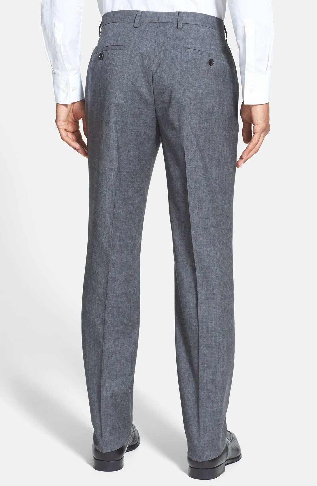 ZZDNUHUGO BOSS,                             BOSS 'Sharp' Slim Fit Flat Front Wool Trousers,                             Alternate thumbnail 2, color,                             060