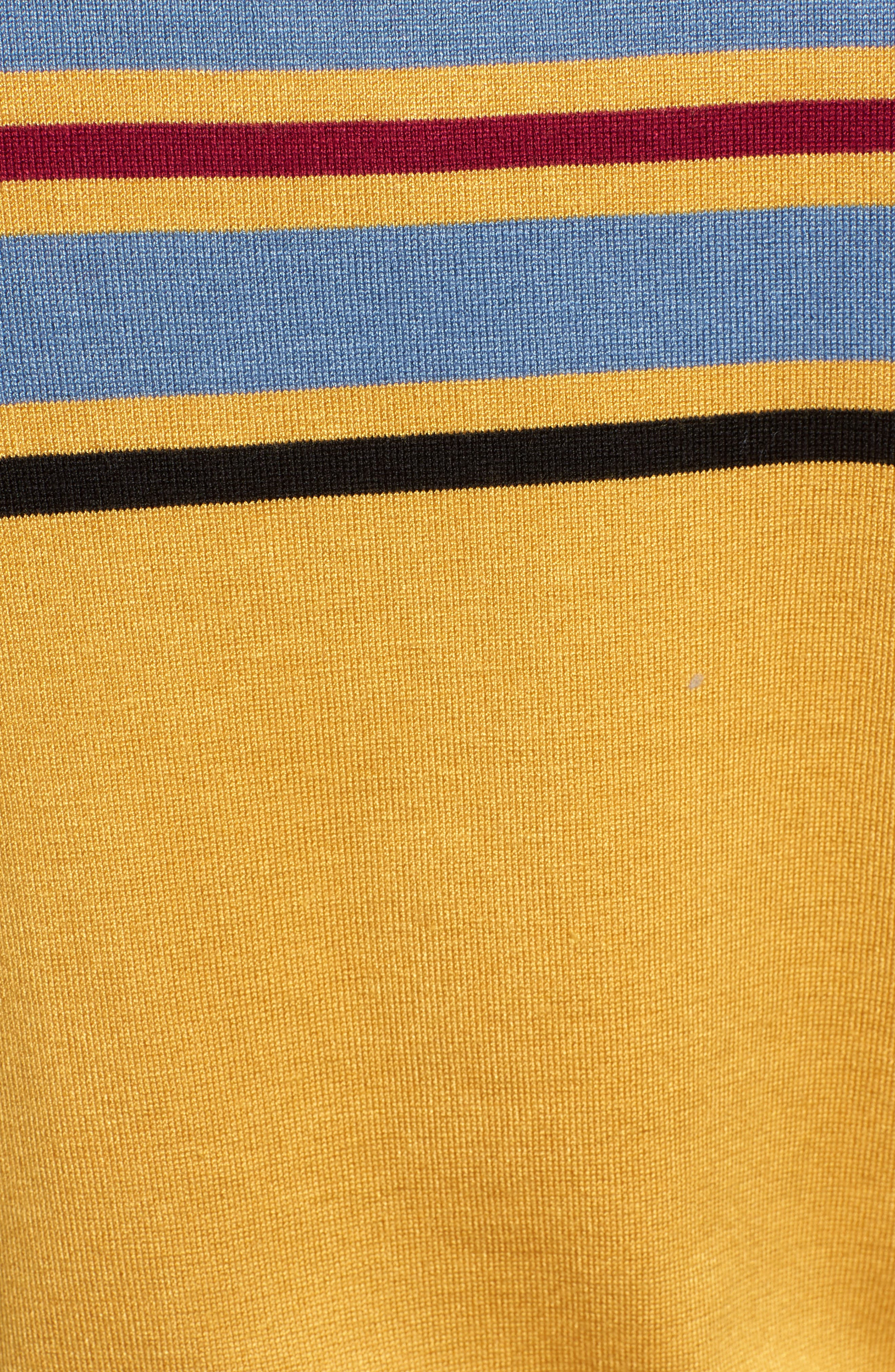 Skivvy Stripe Sweater,                             Alternate thumbnail 5, color,                             MUSTARD