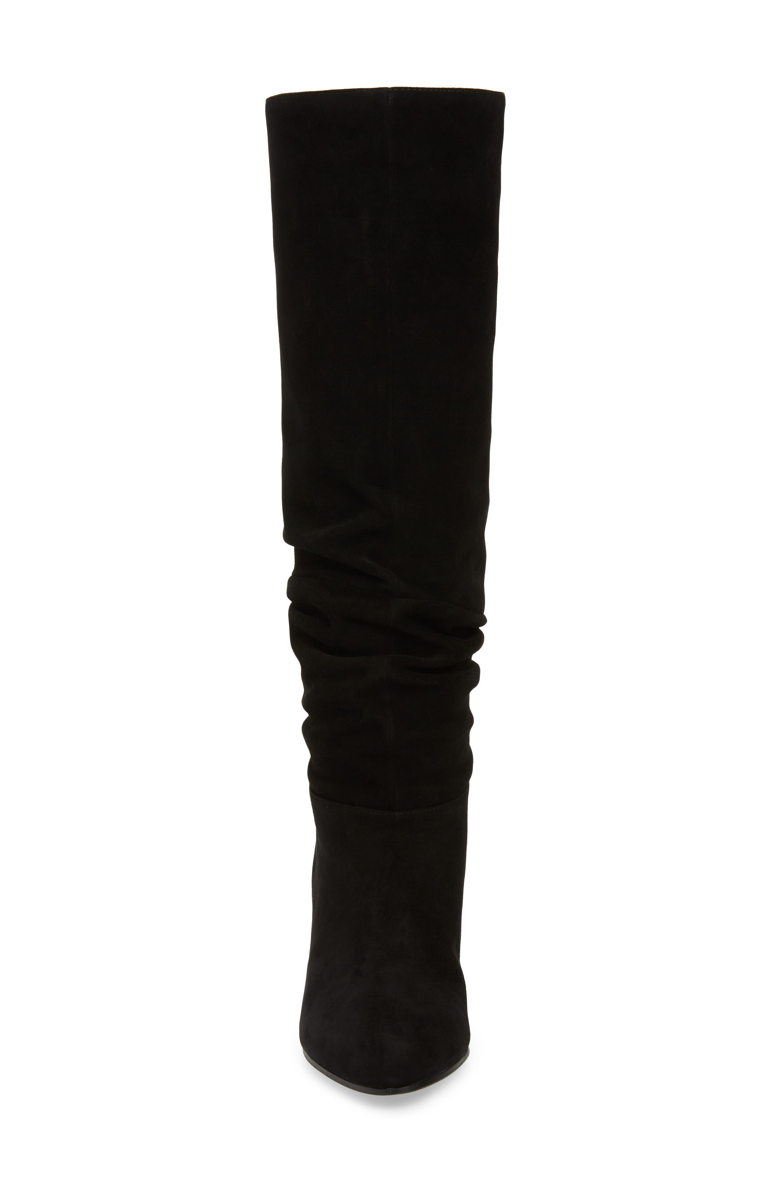 Ditto Knee High Boot,                             Alternate thumbnail 4, color,                             BLACK SUEDE
