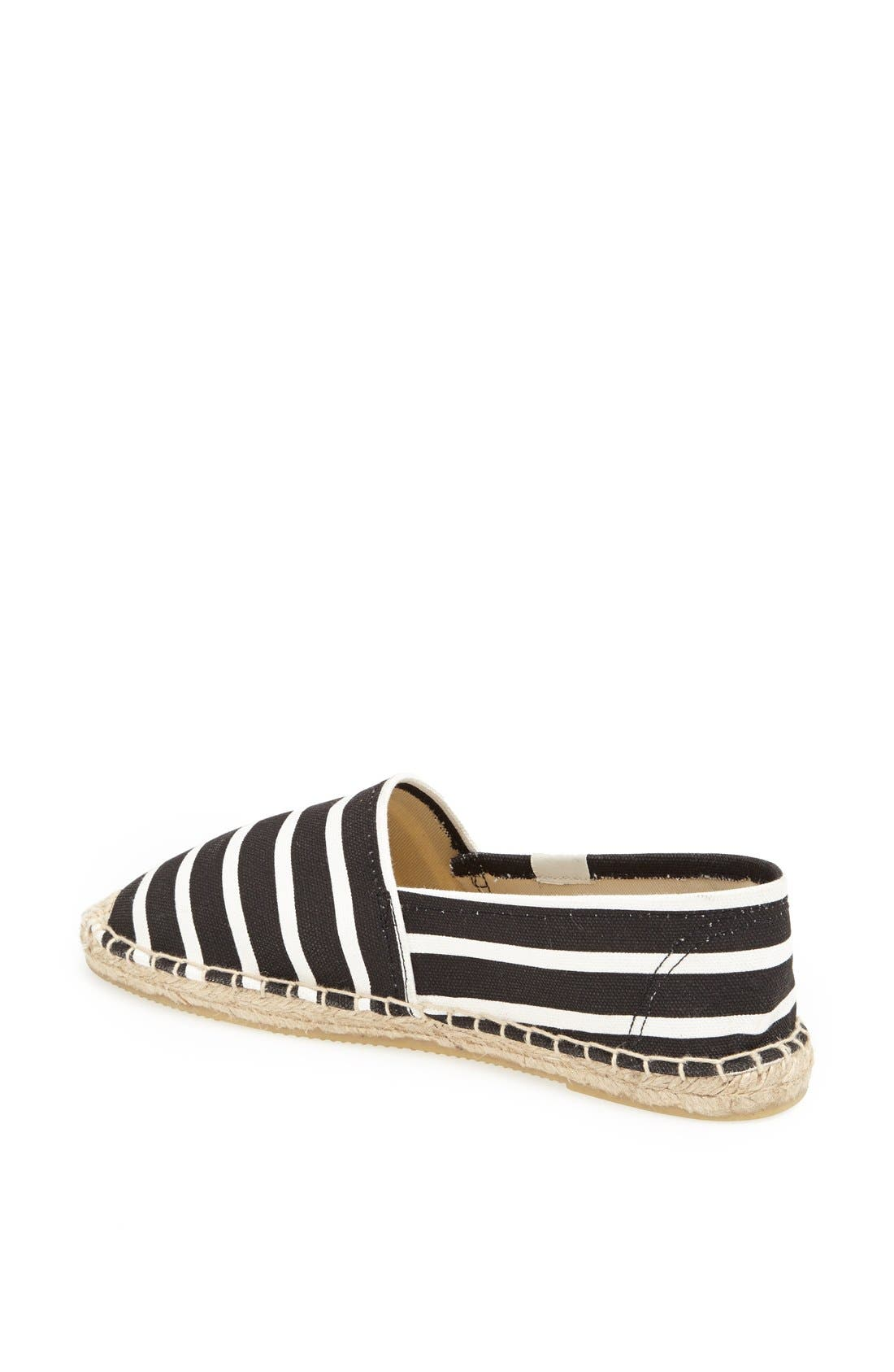 'Classic' Espadrille Slip-On,                             Alternate thumbnail 2, color,                             001