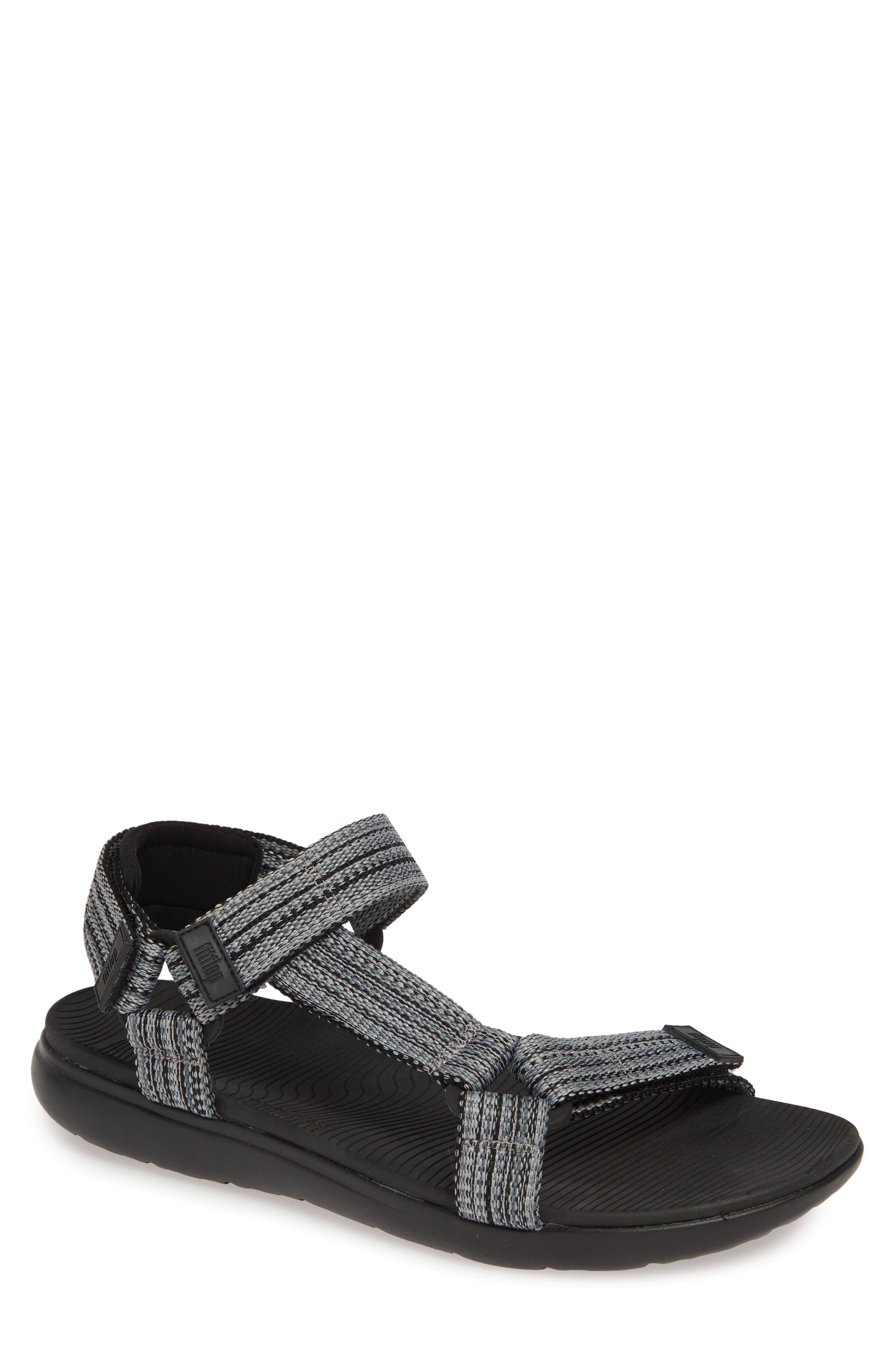 Freshweave Sport Sandal,                             Main thumbnail 1, color,                             BLACK KNIT