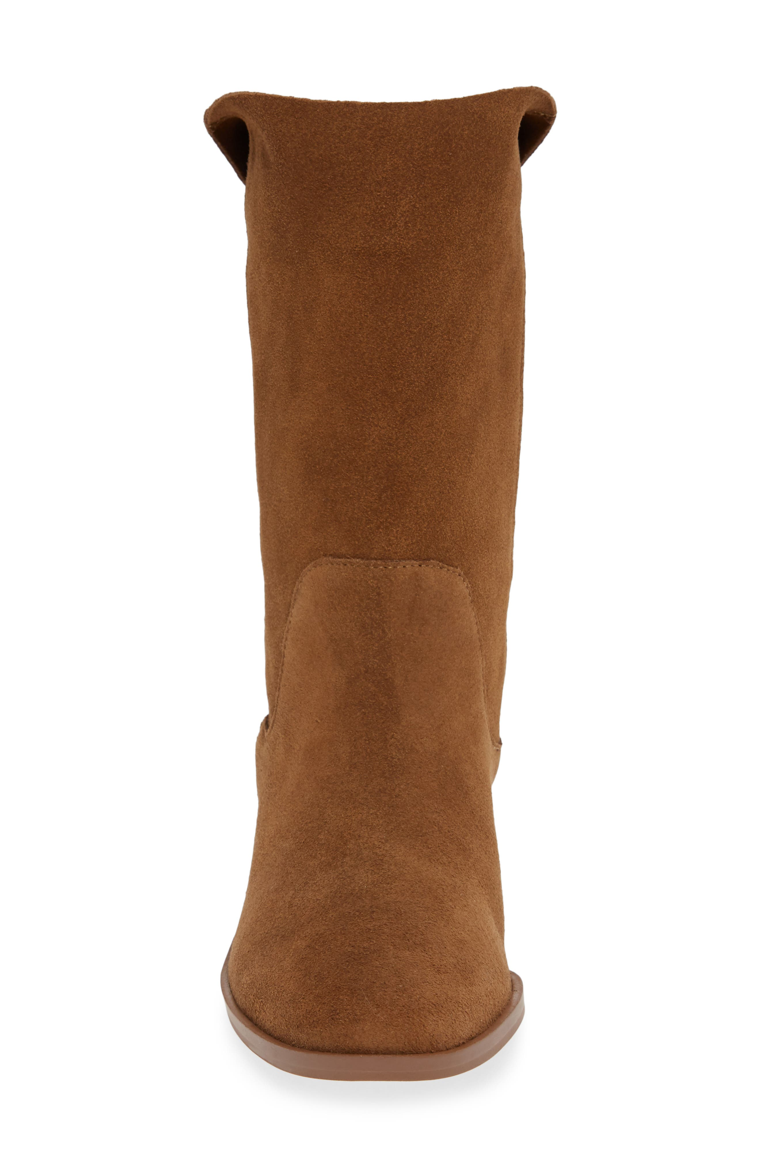 Calanth Bootie,                             Alternate thumbnail 4, color,                             TOBACCO SUEDE