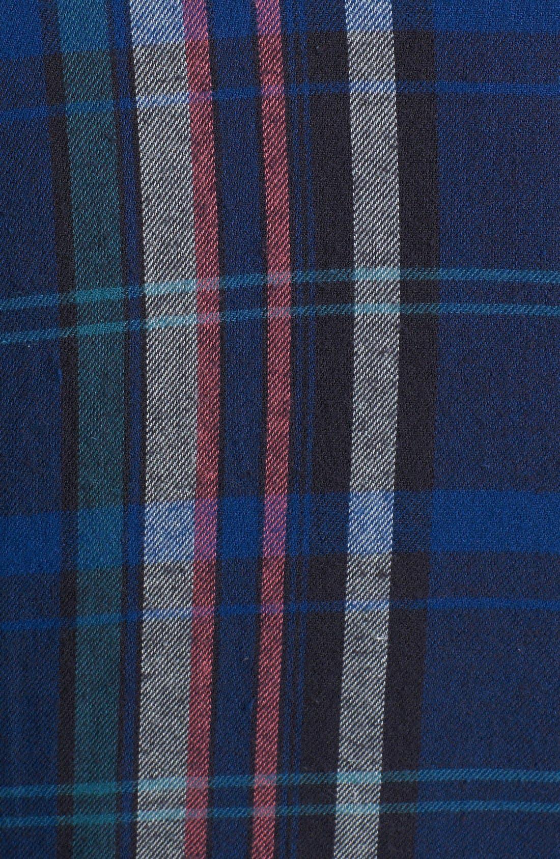 Plaid Flannel Western Shirt,                             Alternate thumbnail 3, color,                             001