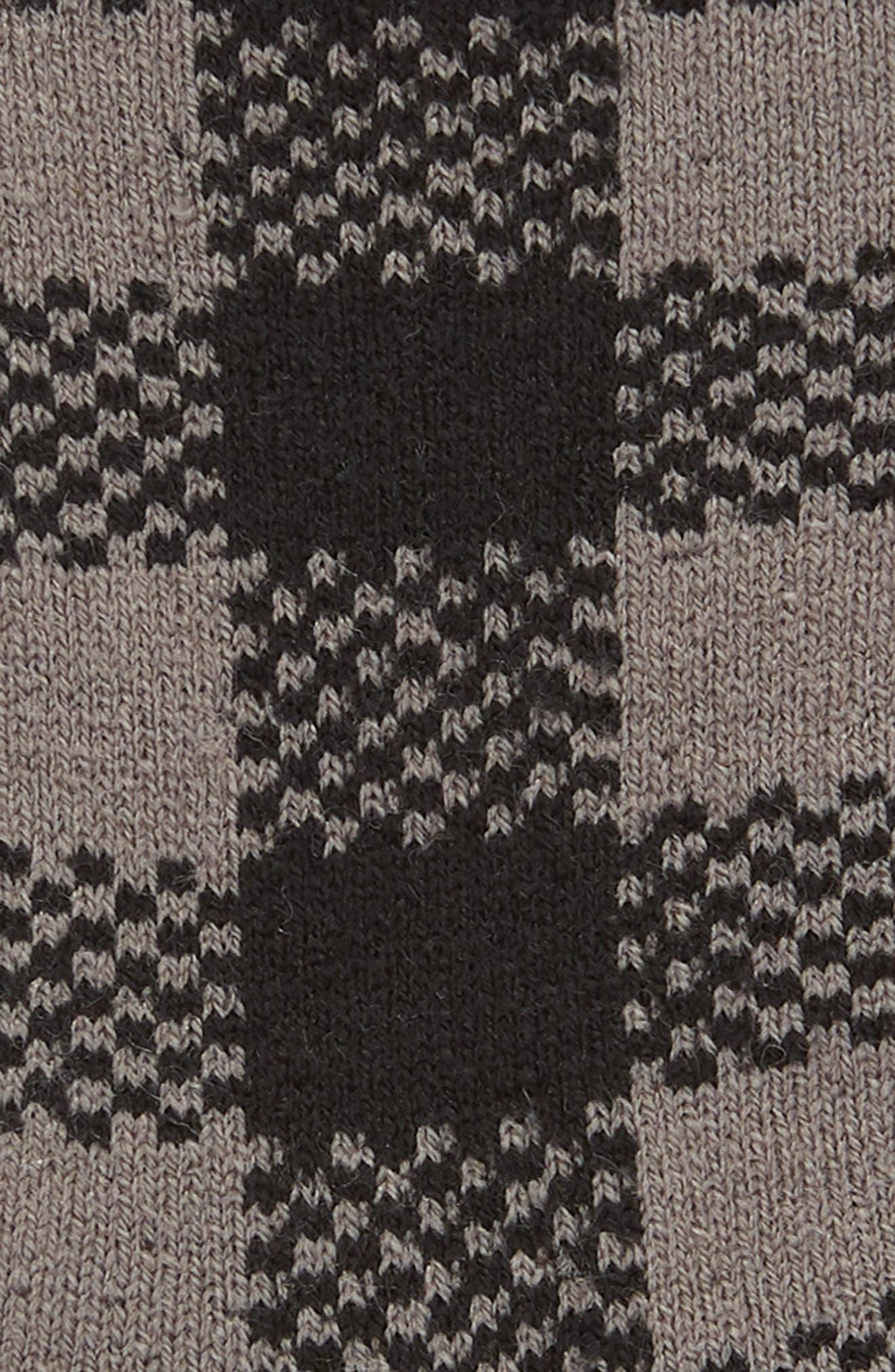 Randall Check Crew Socks,                             Alternate thumbnail 2, color,                             BLACK