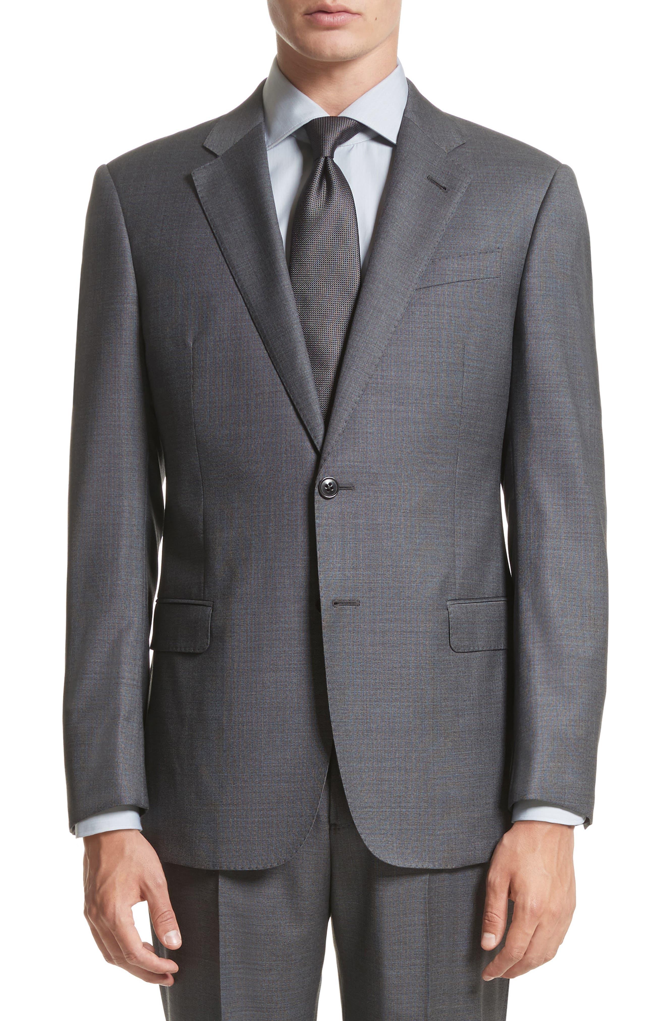 G-Line Trim Fit Solid Wool Suit,                             Alternate thumbnail 5, color,                             032
