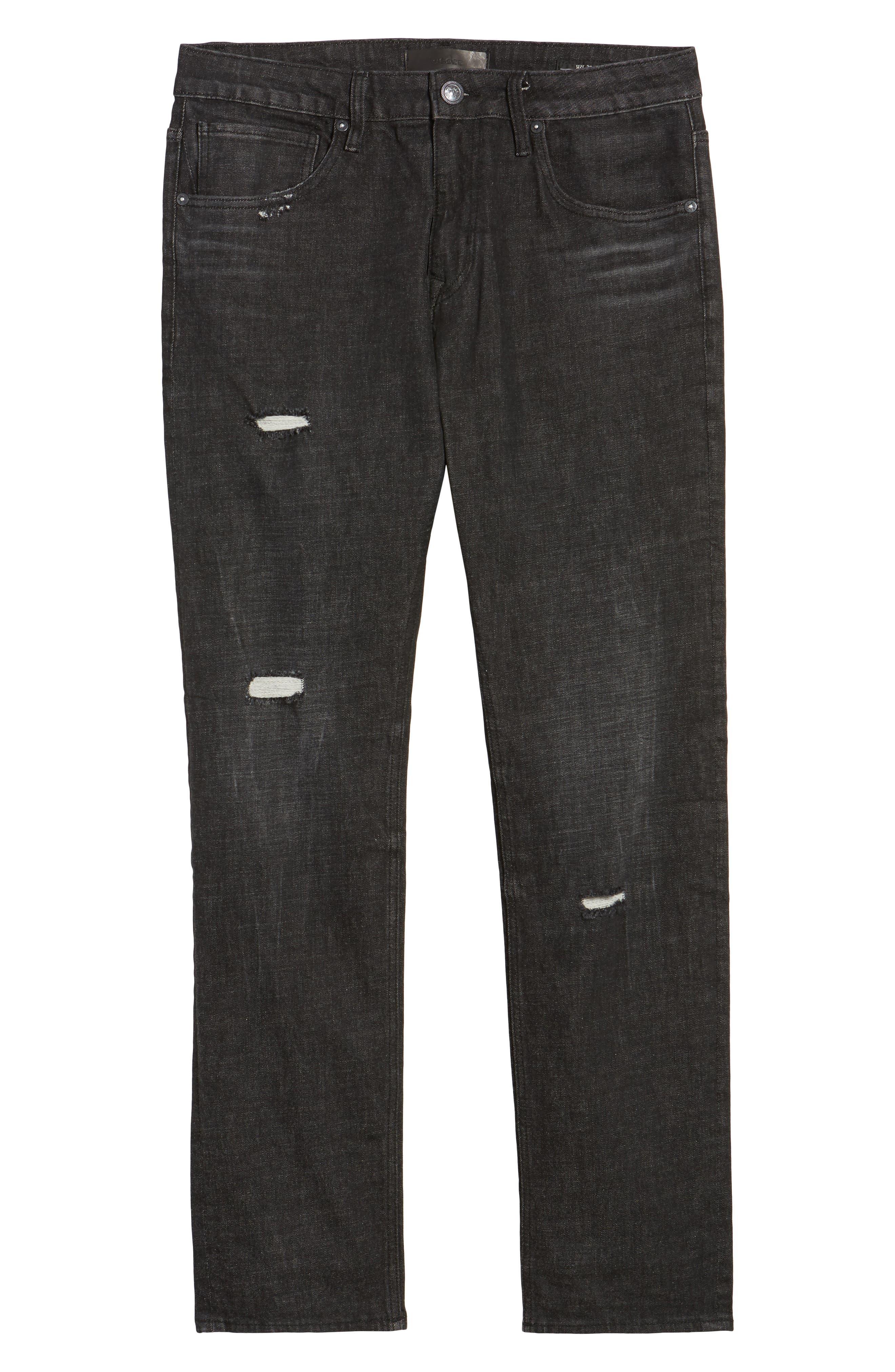 Slim Straight Leg Jeans,                             Alternate thumbnail 6, color,                             001