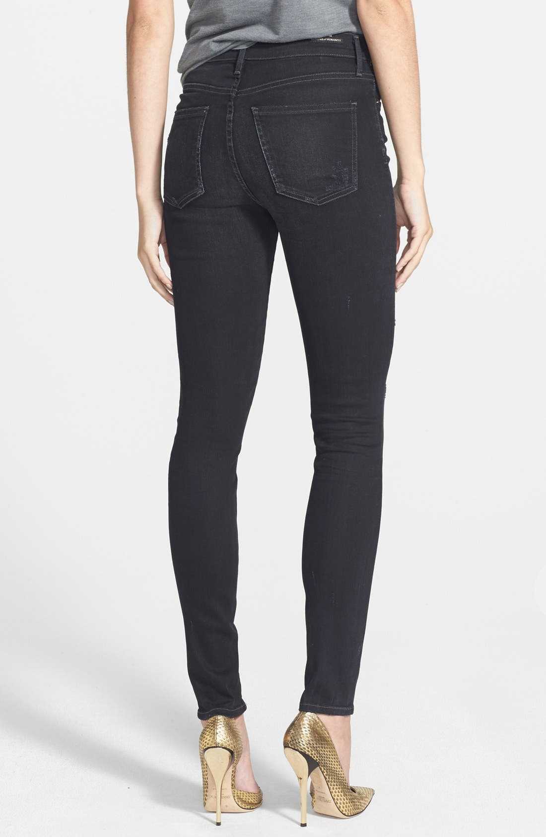 CITIZENS OF HUMANITY,                             Rocket Distressed High Waist Skinny Jeans,                             Alternate thumbnail 2, color,                             409