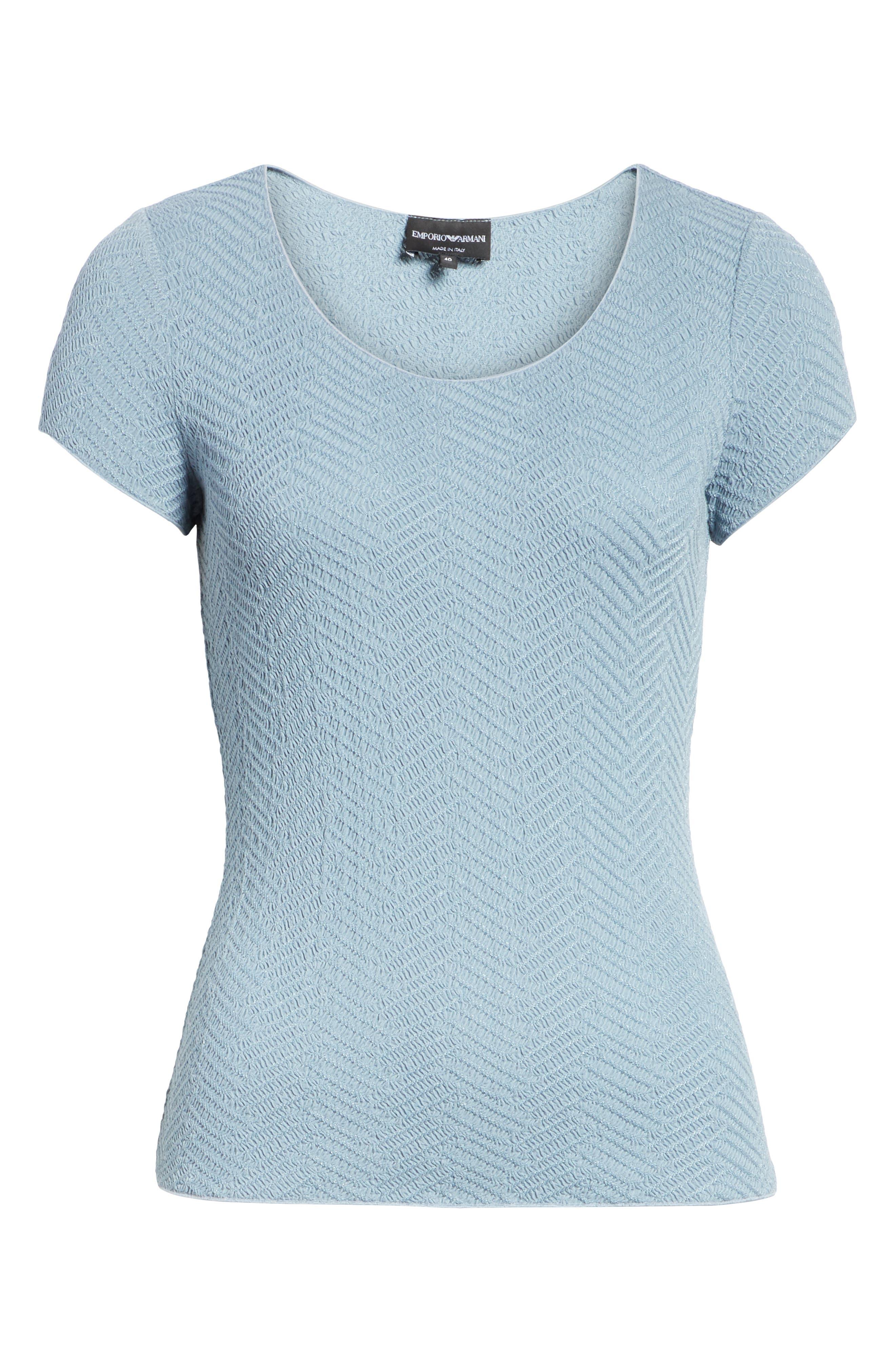 Short Sleeve Jersey Tee,                             Alternate thumbnail 6, color,                             STONE BLUE