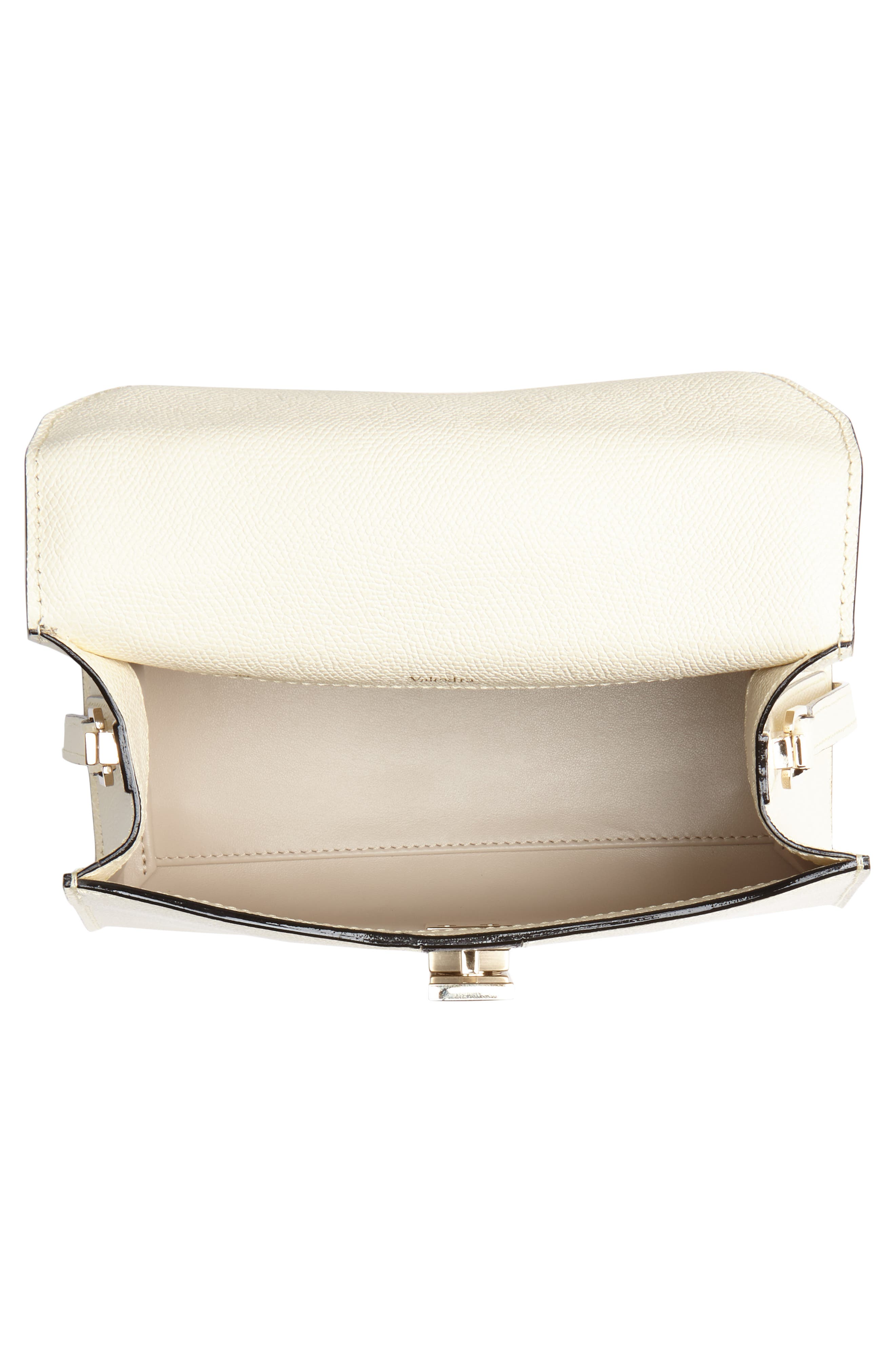Mini Iside Top Handle Bag,                             Alternate thumbnail 4, color,                             WHITE/ BLACK
