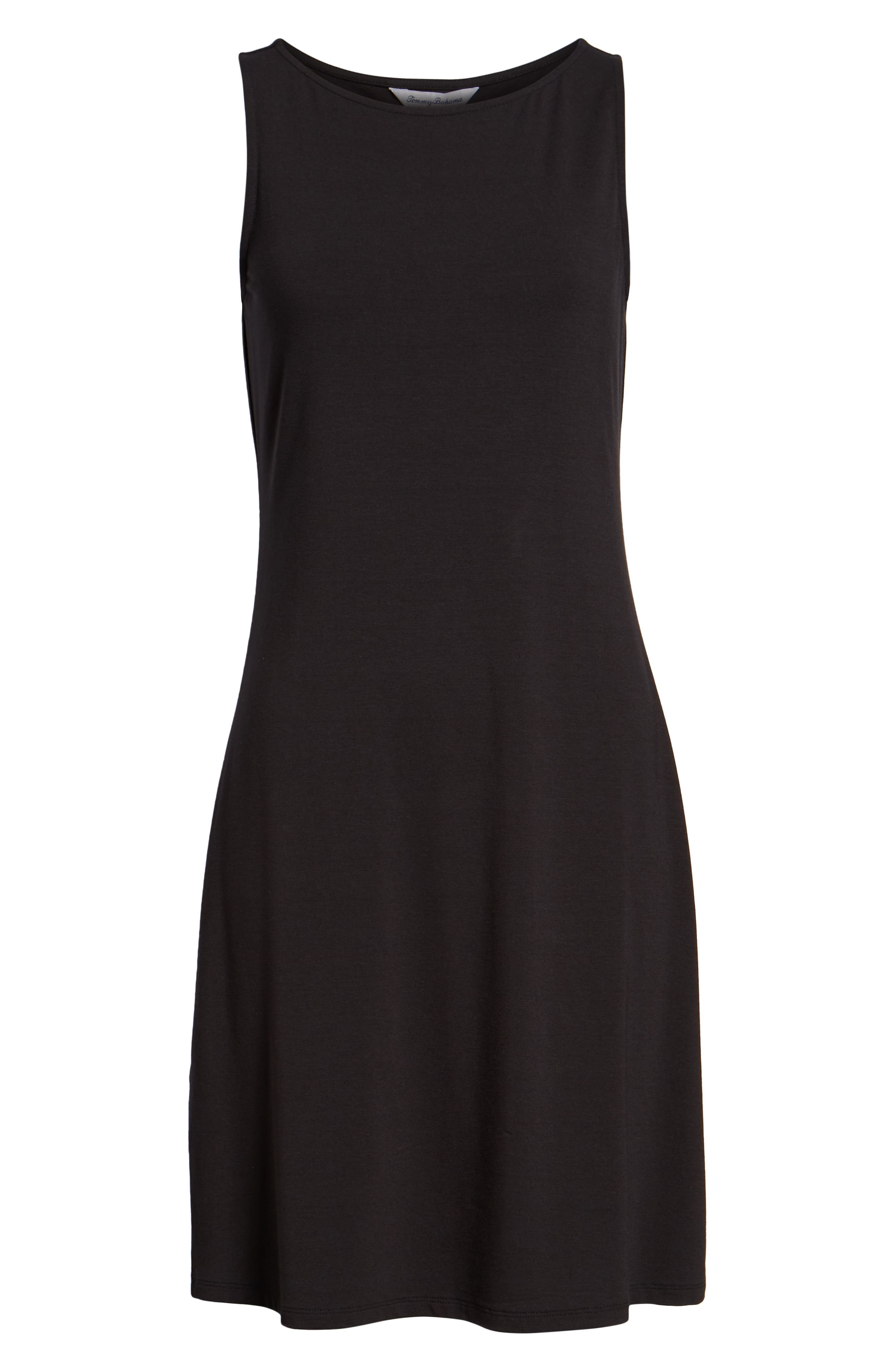 Tambour Shift Dress,                             Alternate thumbnail 6, color,                             BLACK