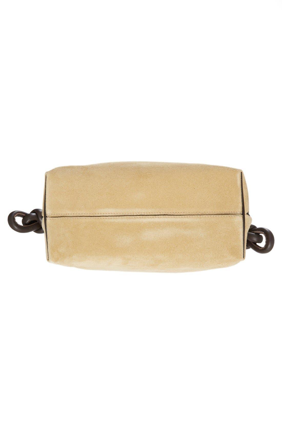 'Flamenco Knot' Suede & Calfskin Leather Bag,                             Alternate thumbnail 6, color,                             250