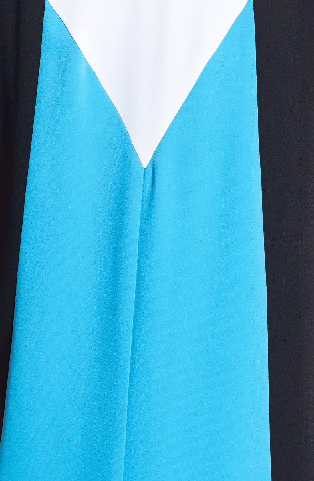 TROUVÉ,                             Colorblock High/Low Shift Dress,                             Alternate thumbnail 2, color,                             420