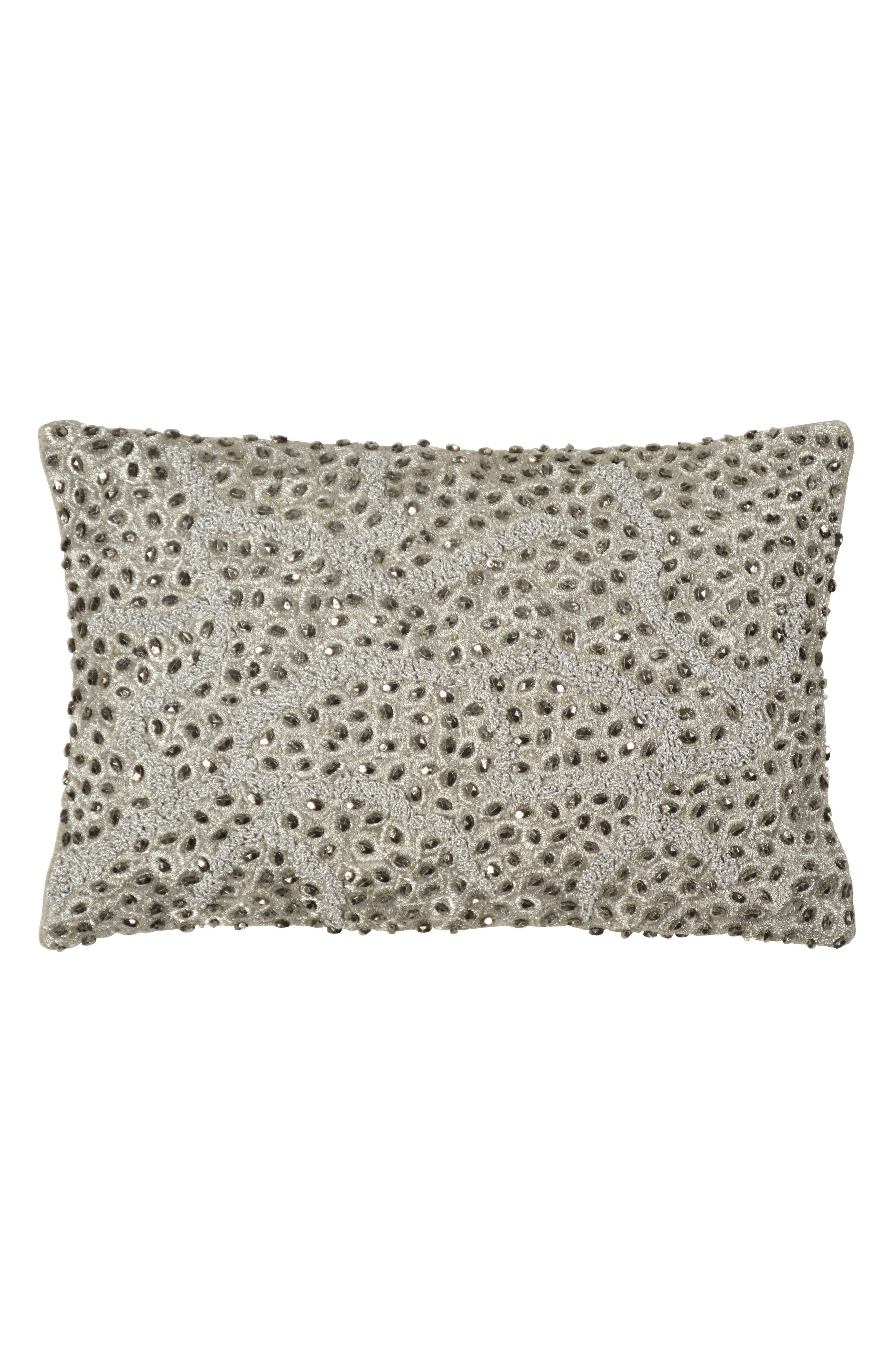 Micahel Aram Pomegranate Beaded Accent Pillow,                             Main thumbnail 1, color,                             040