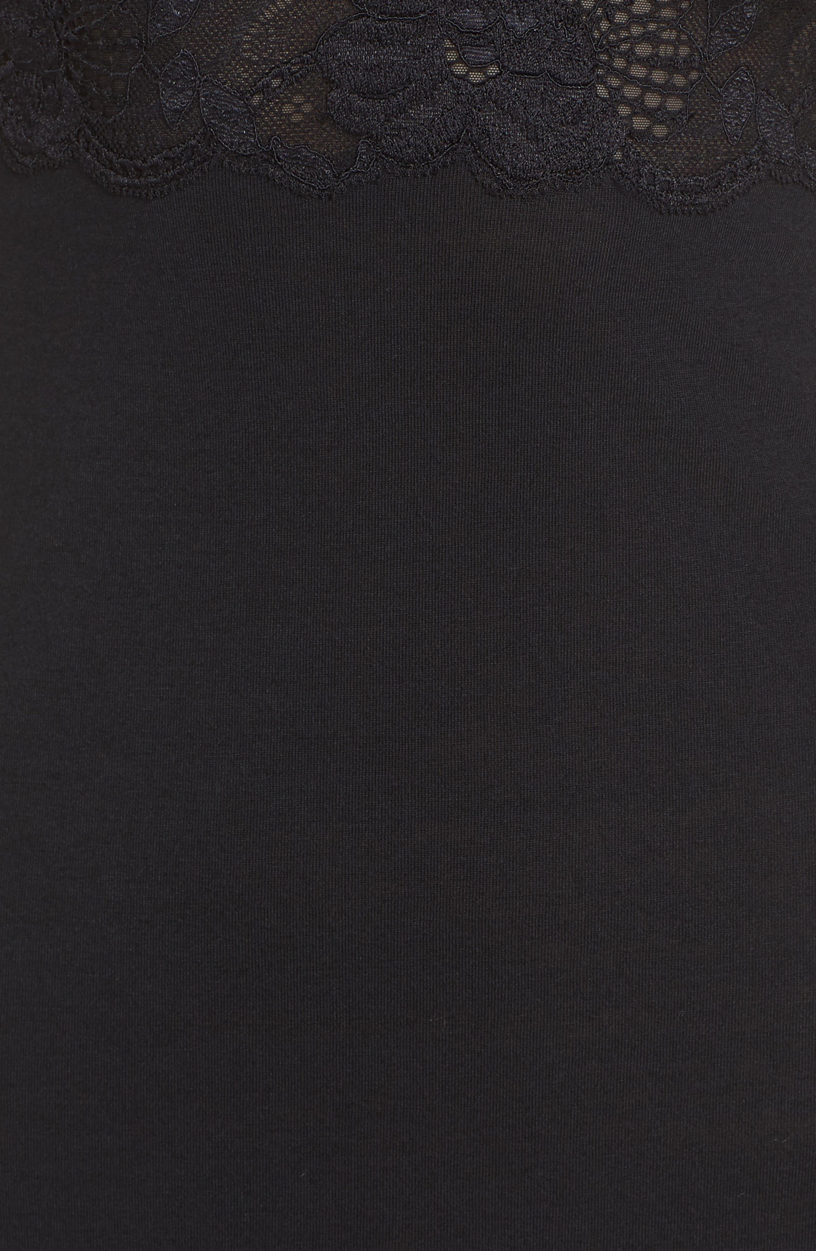 'Zen Floral' Chemise,                             Alternate thumbnail 6, color,                             BLACK