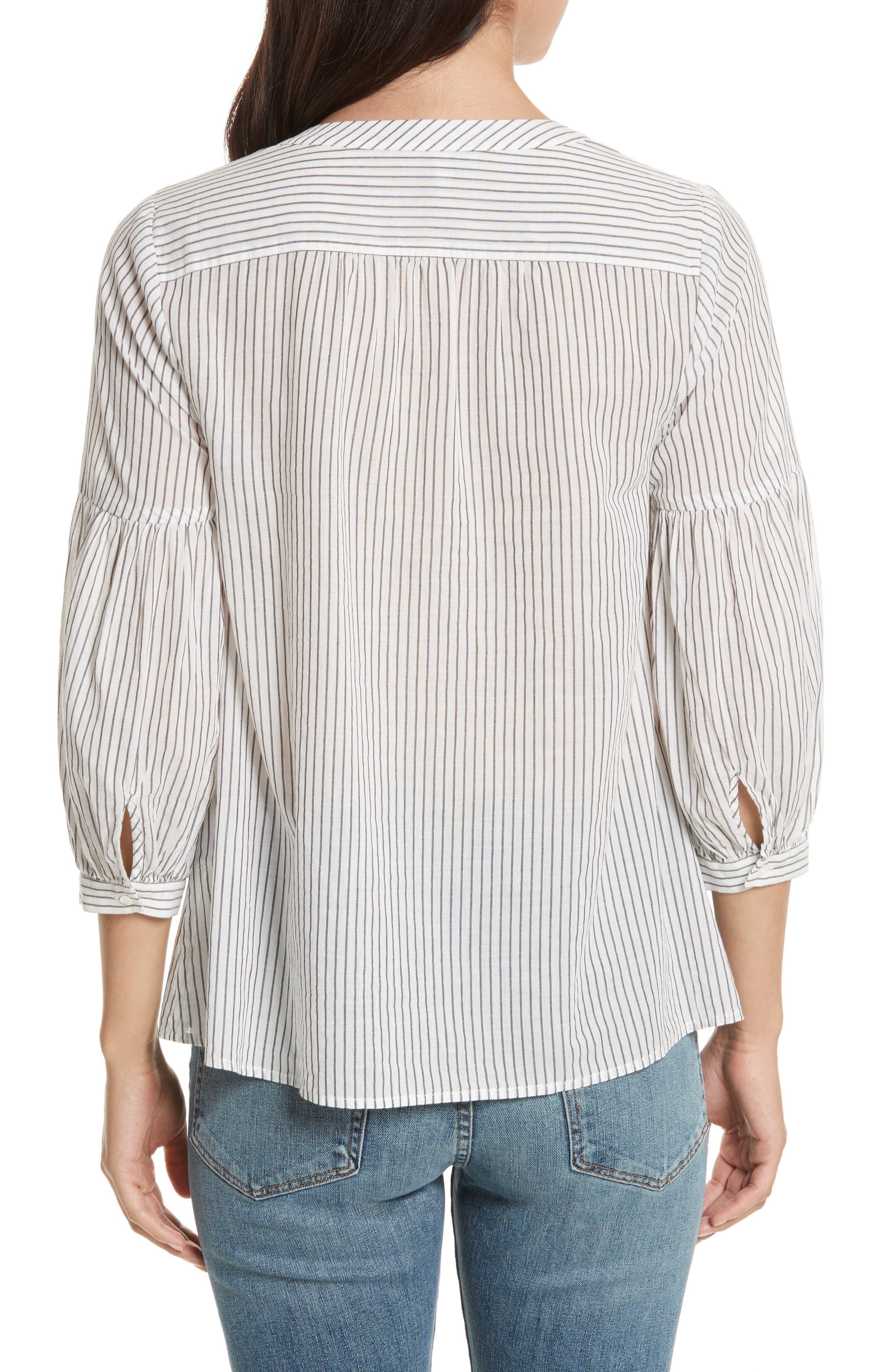 Aldys Stripe Cotton Top,                             Alternate thumbnail 2, color,                             114