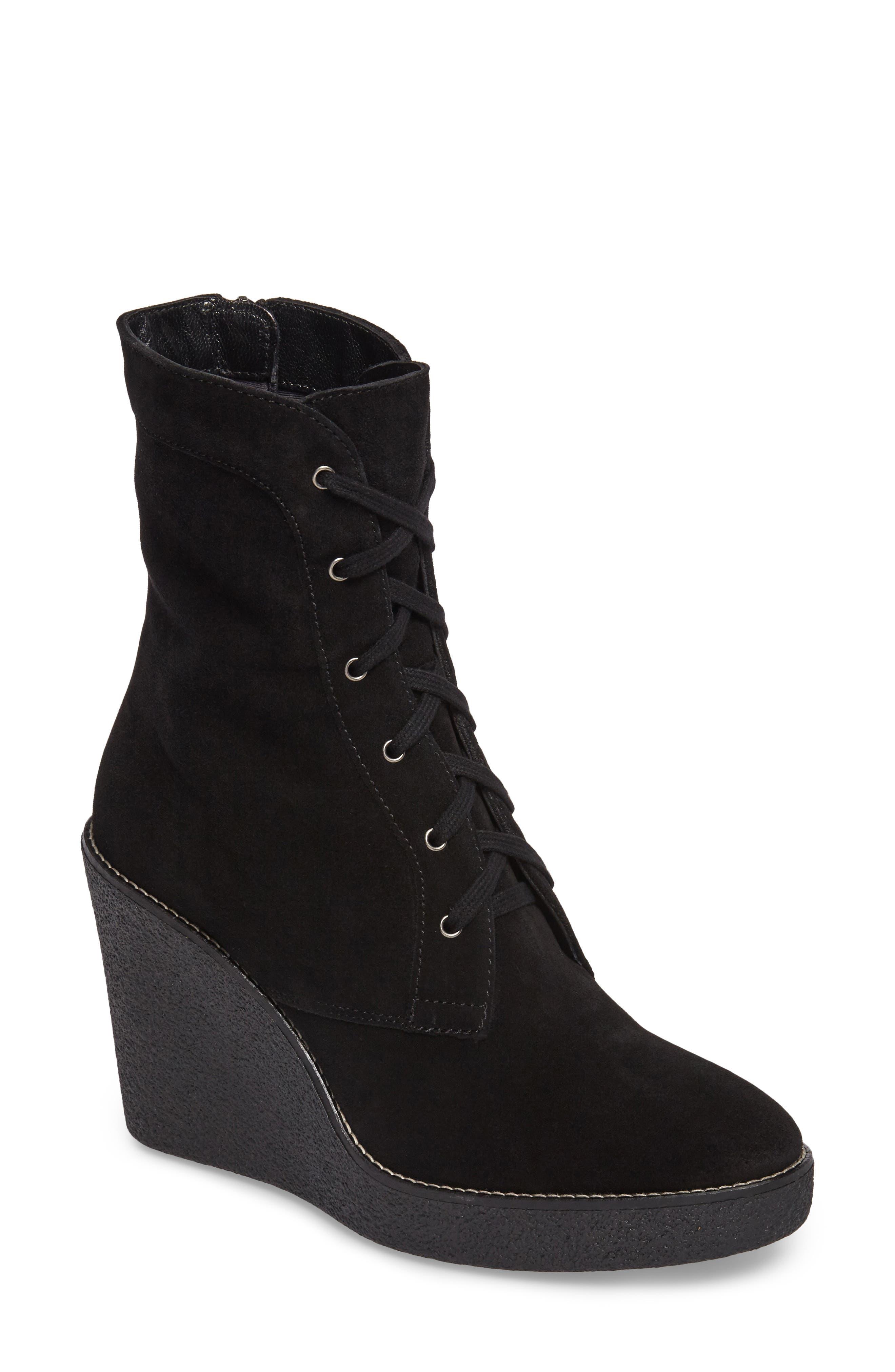 Viviann Weatherproof Wedge Boot,                         Main,                         color, 001