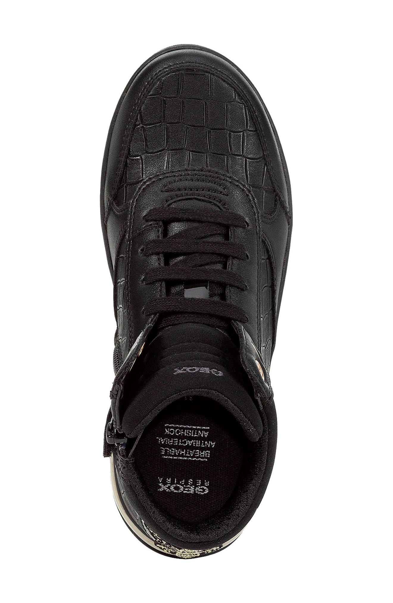 Aveup High Top Sneaker,                             Alternate thumbnail 5, color,                             BLACK