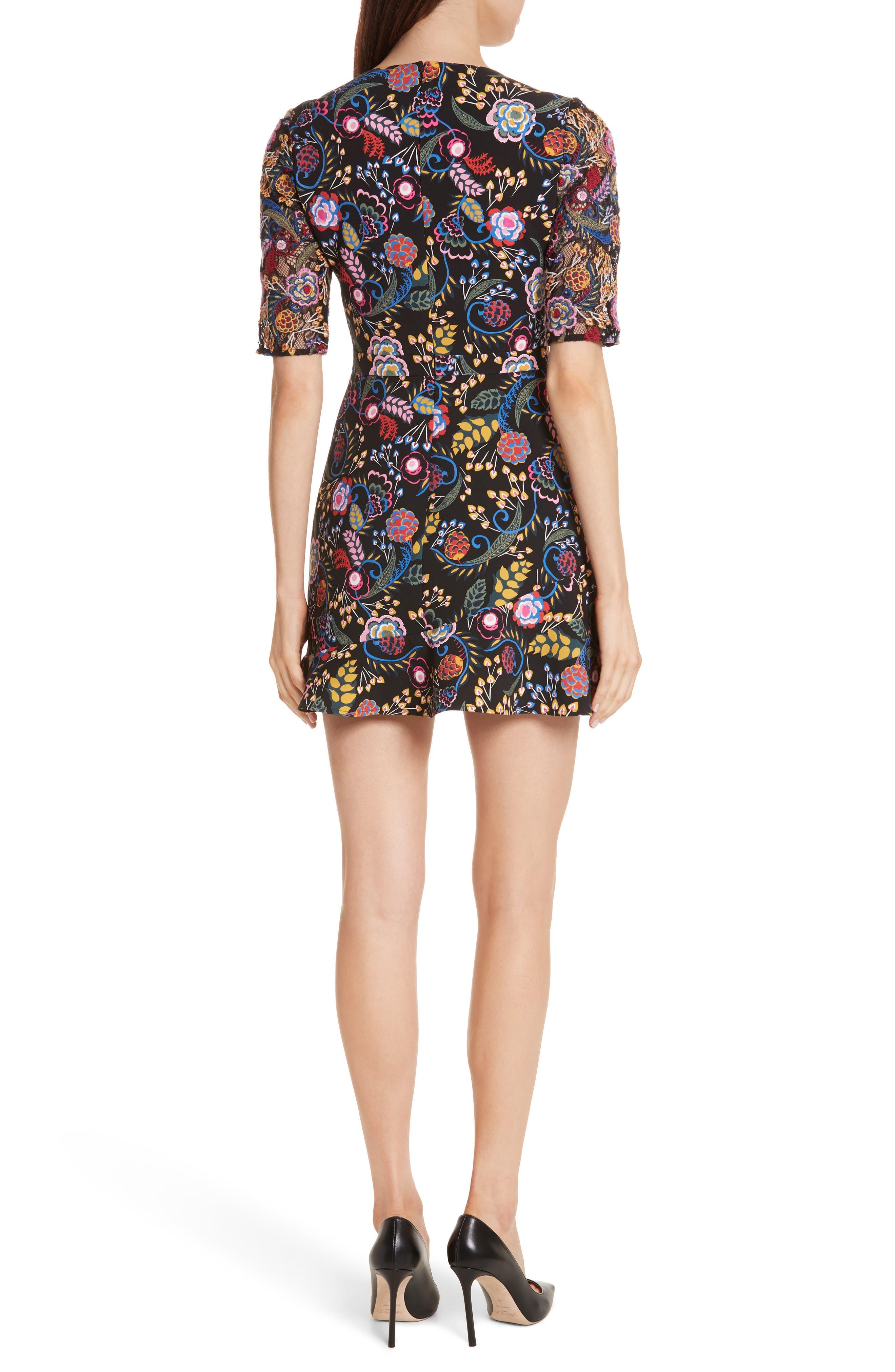 Celia Floral Print Dress,                             Alternate thumbnail 2, color,                             005