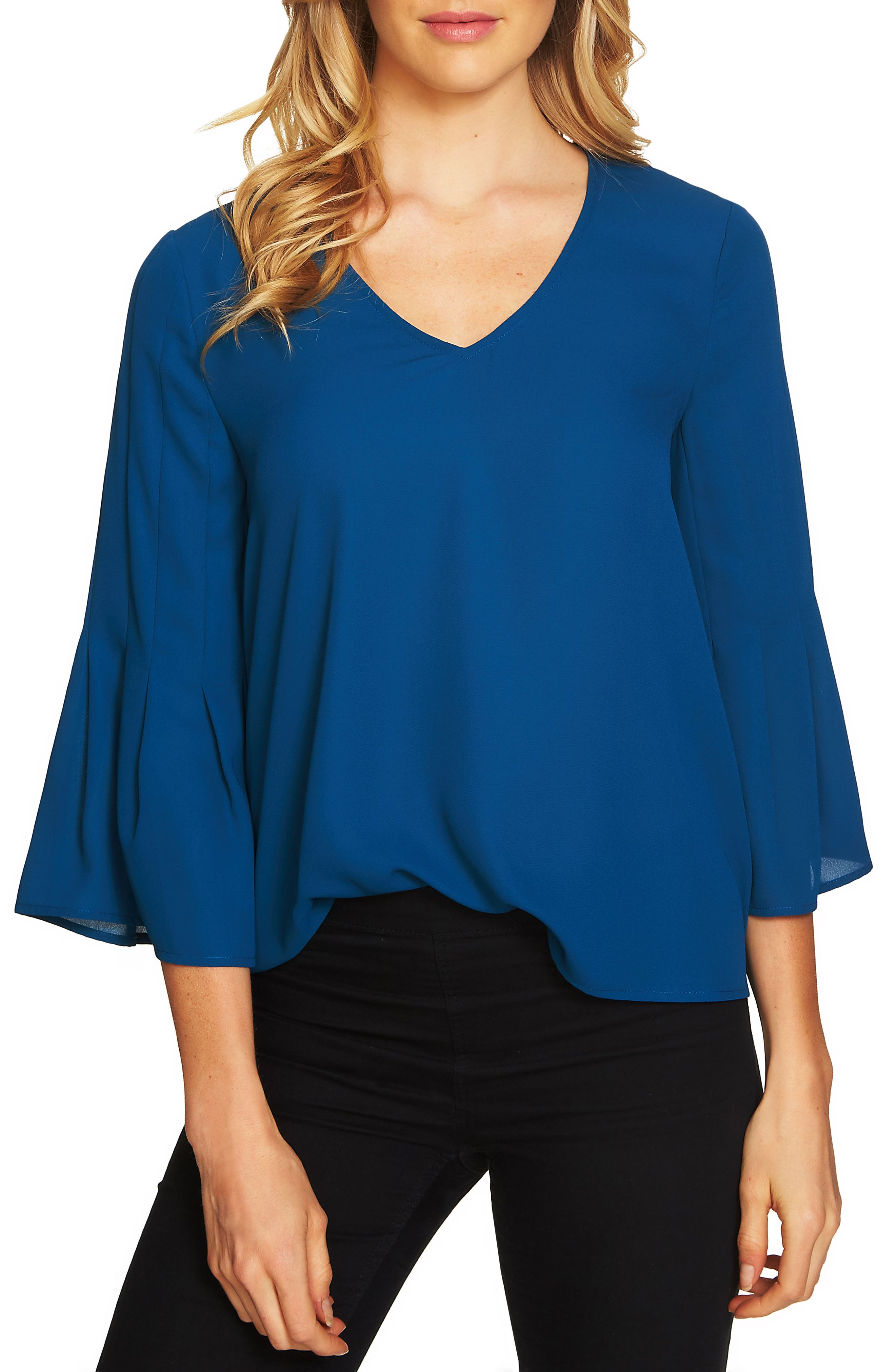 Flare Sleeve Blouse,                         Main,                         color, 402