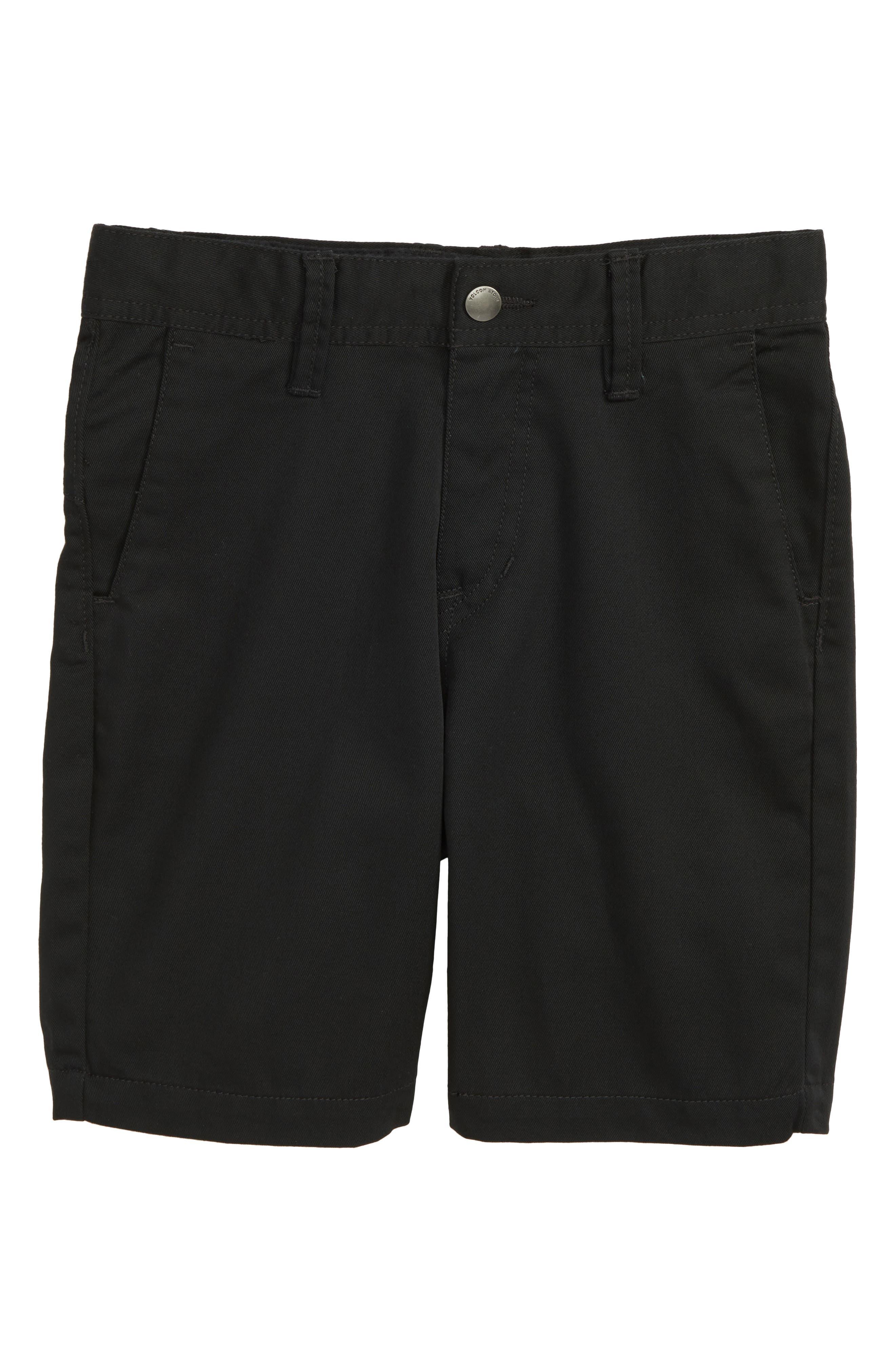 Chino Shorts,                             Main thumbnail 1, color,                             BLACK