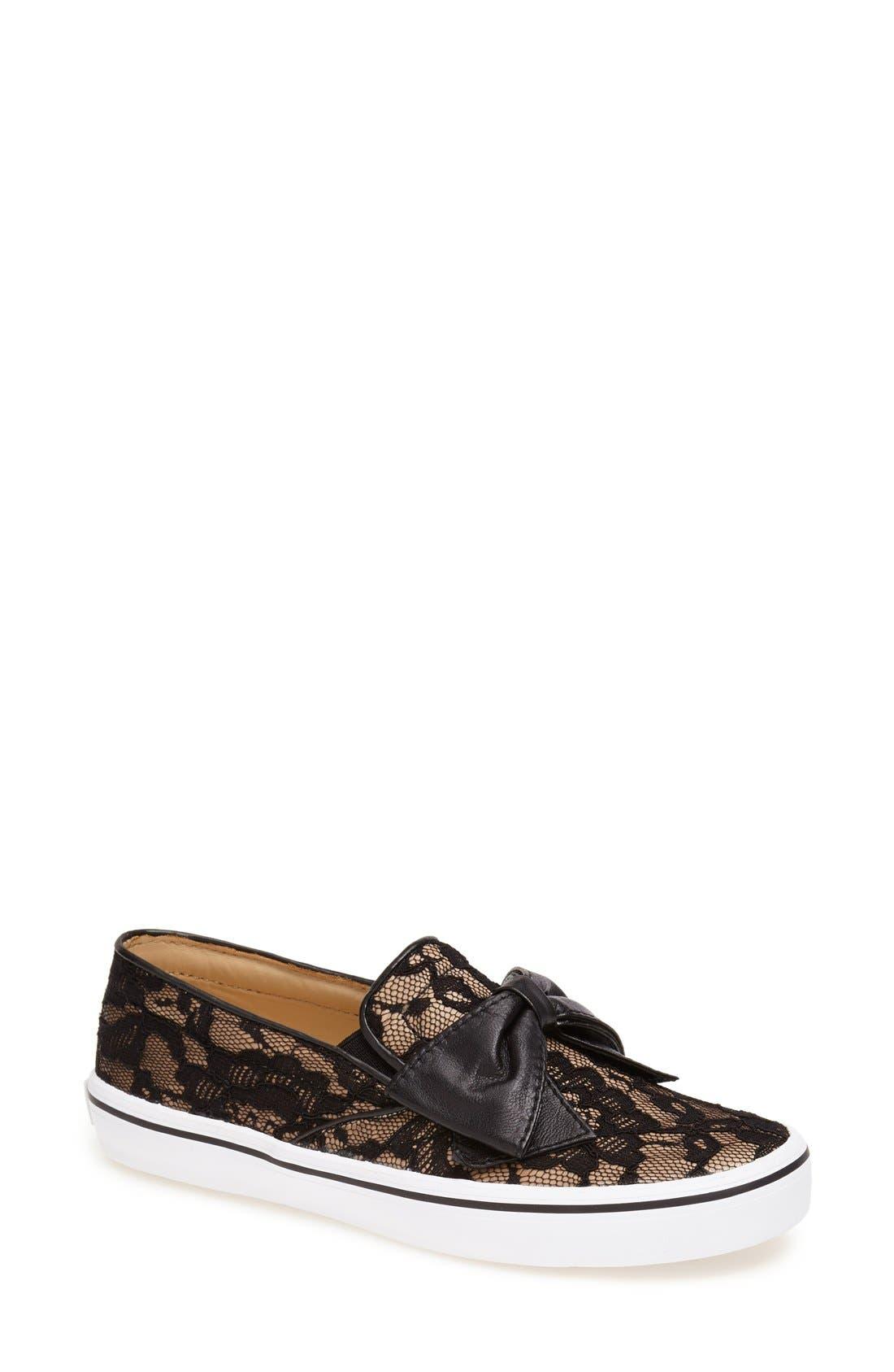 KATE SPADE NEW YORK,                             'delise' slip-on sneaker,                             Main thumbnail 1, color,                             001