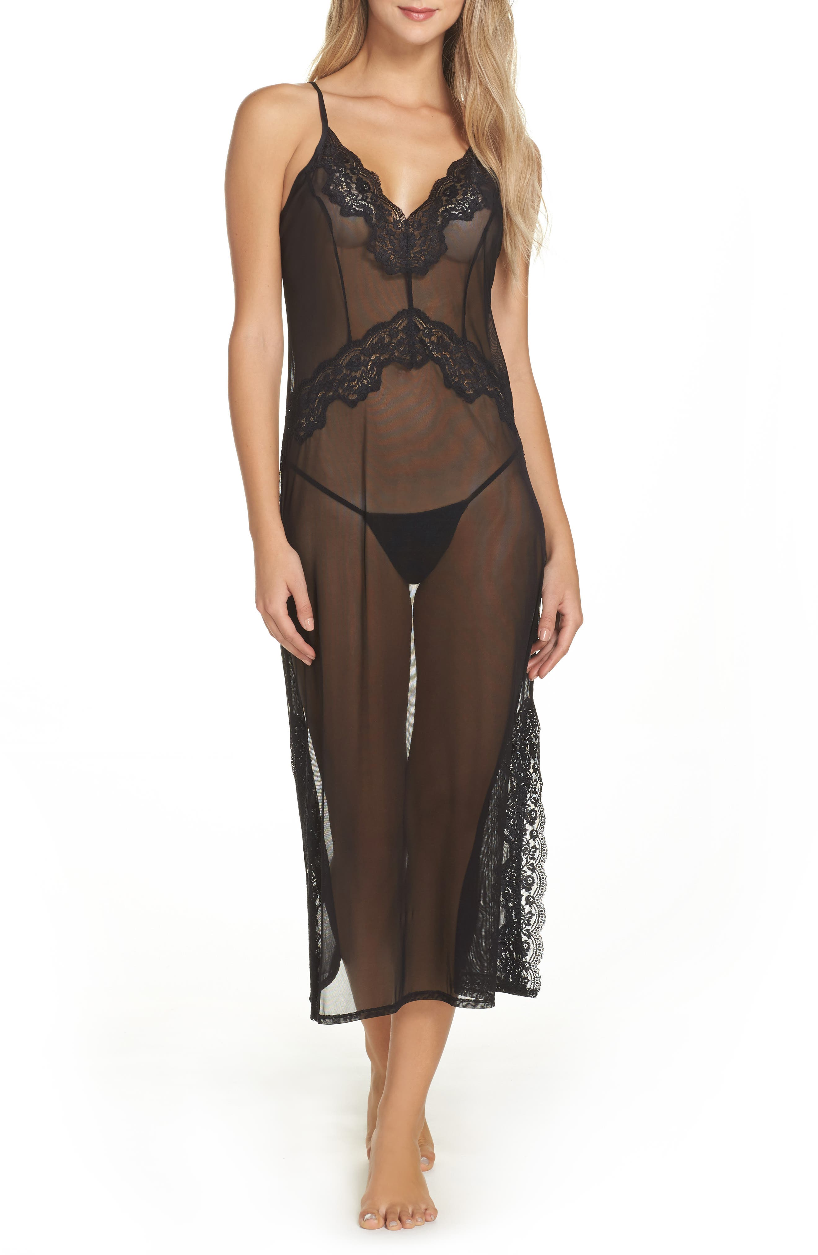 Sheer Love Slip,                         Main,                         color, 001