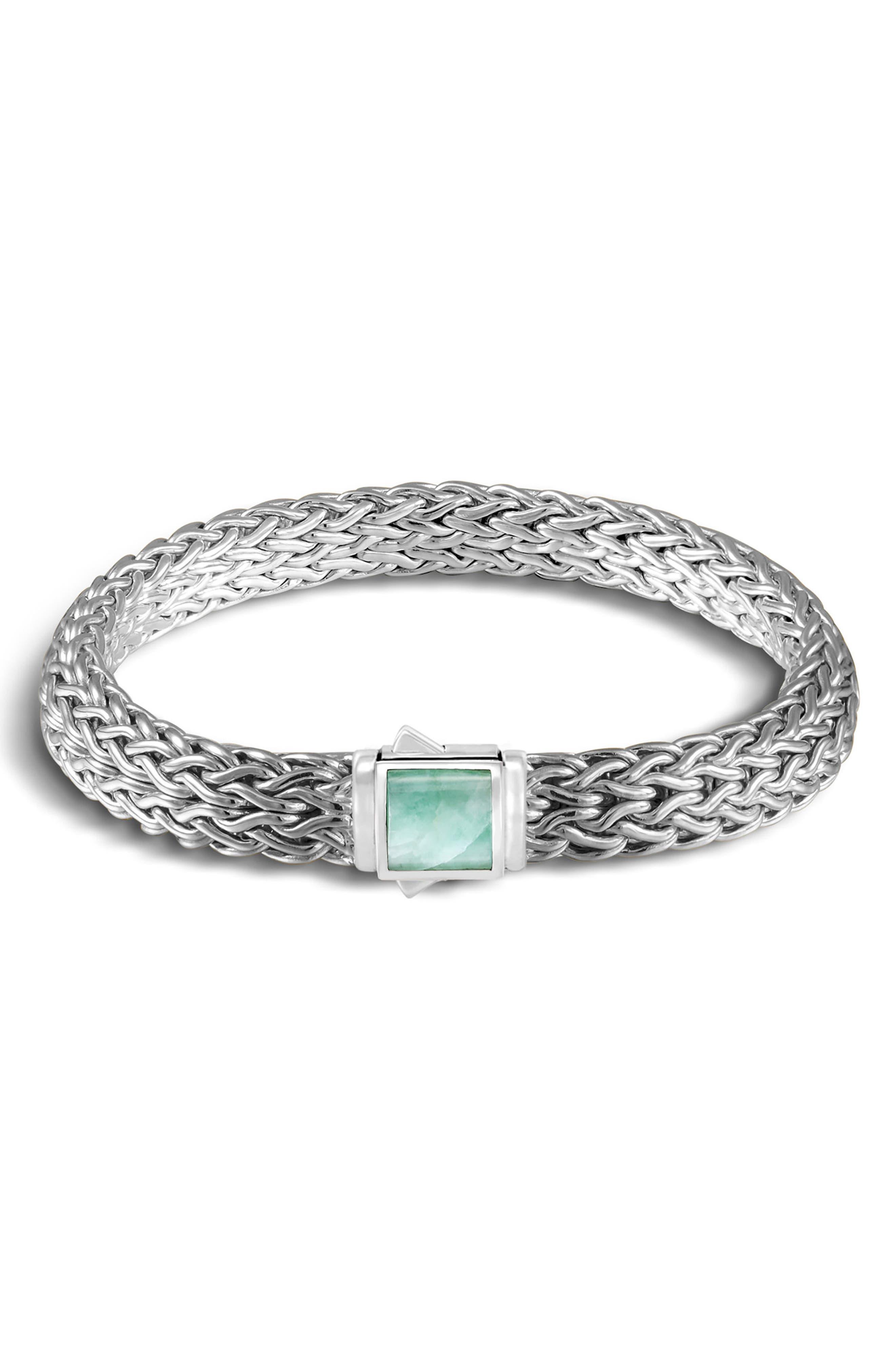 Classic Chain Reversible Bracelet,                             Main thumbnail 1, color,                             BLACK SAPPHIRE/ SODALITE