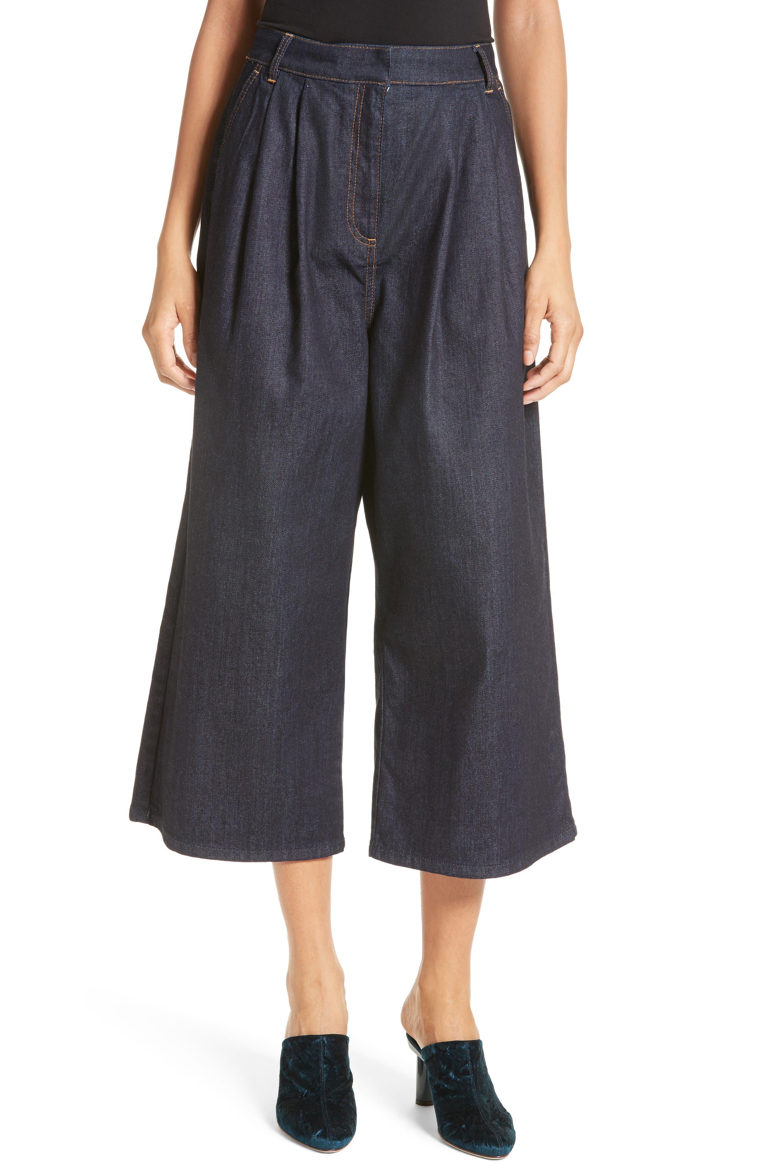 Sam High Waist Culotte Jeans,                         Main,                         color, 401